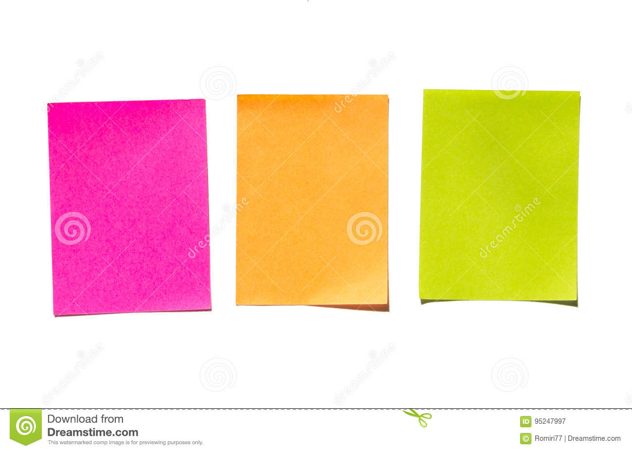 Sticky notes. Memo stick or post note