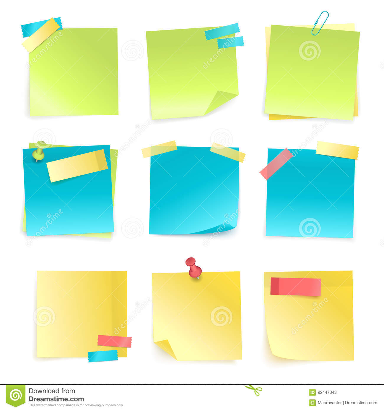 Free vector graphic sticky note note info paper free image on - Royalty Free Vector Sticky Notes Set Stock Vector