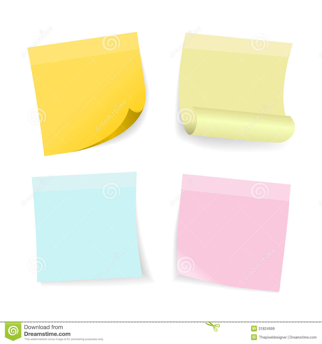 Free vector graphic sticky note note info paper free image on - Royalty Free Stock Photo Set Sticky Vector Green Note