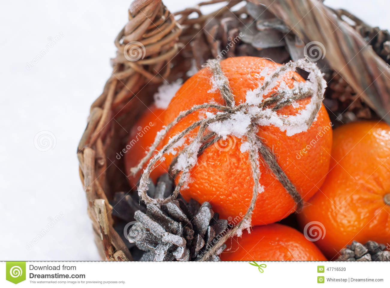 download sticky snow on a bow from cord christmas oranges stock photo image of - Christmas Oranges