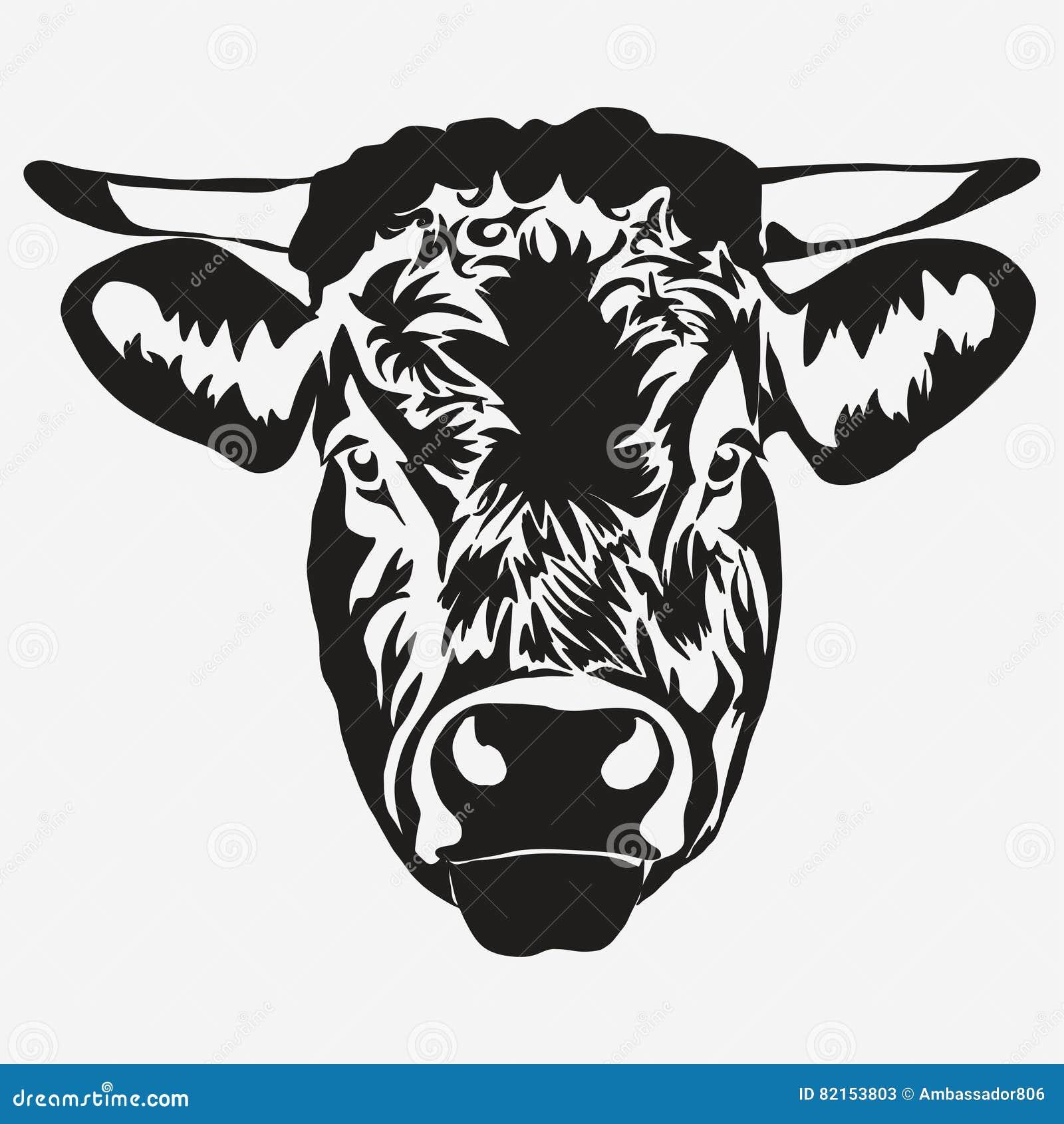 Stieren hoofdvector