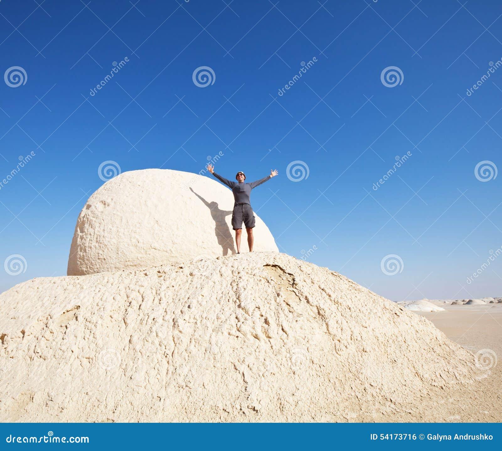 Stijging in Witte woestijn