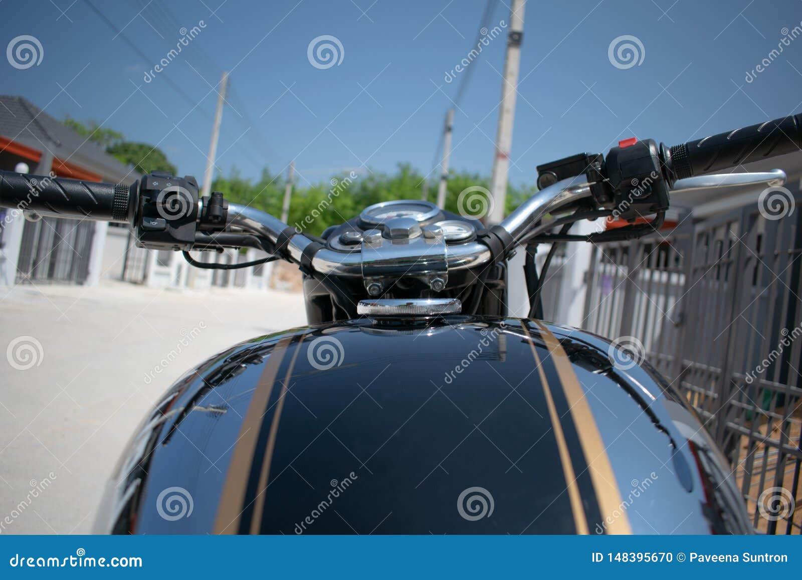 Stijl van de hand de klassieke motorfiets