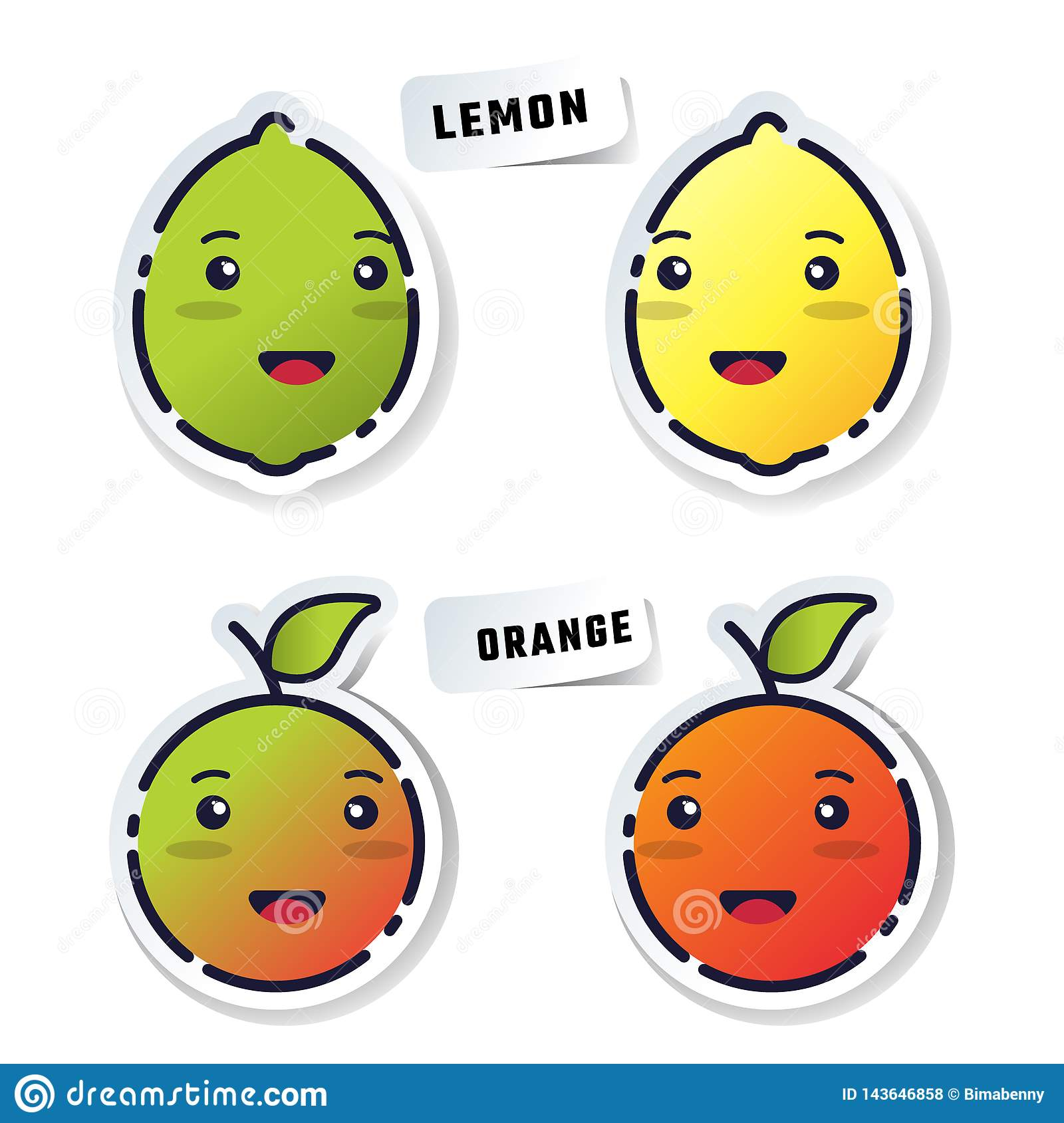 Stikers de fruit