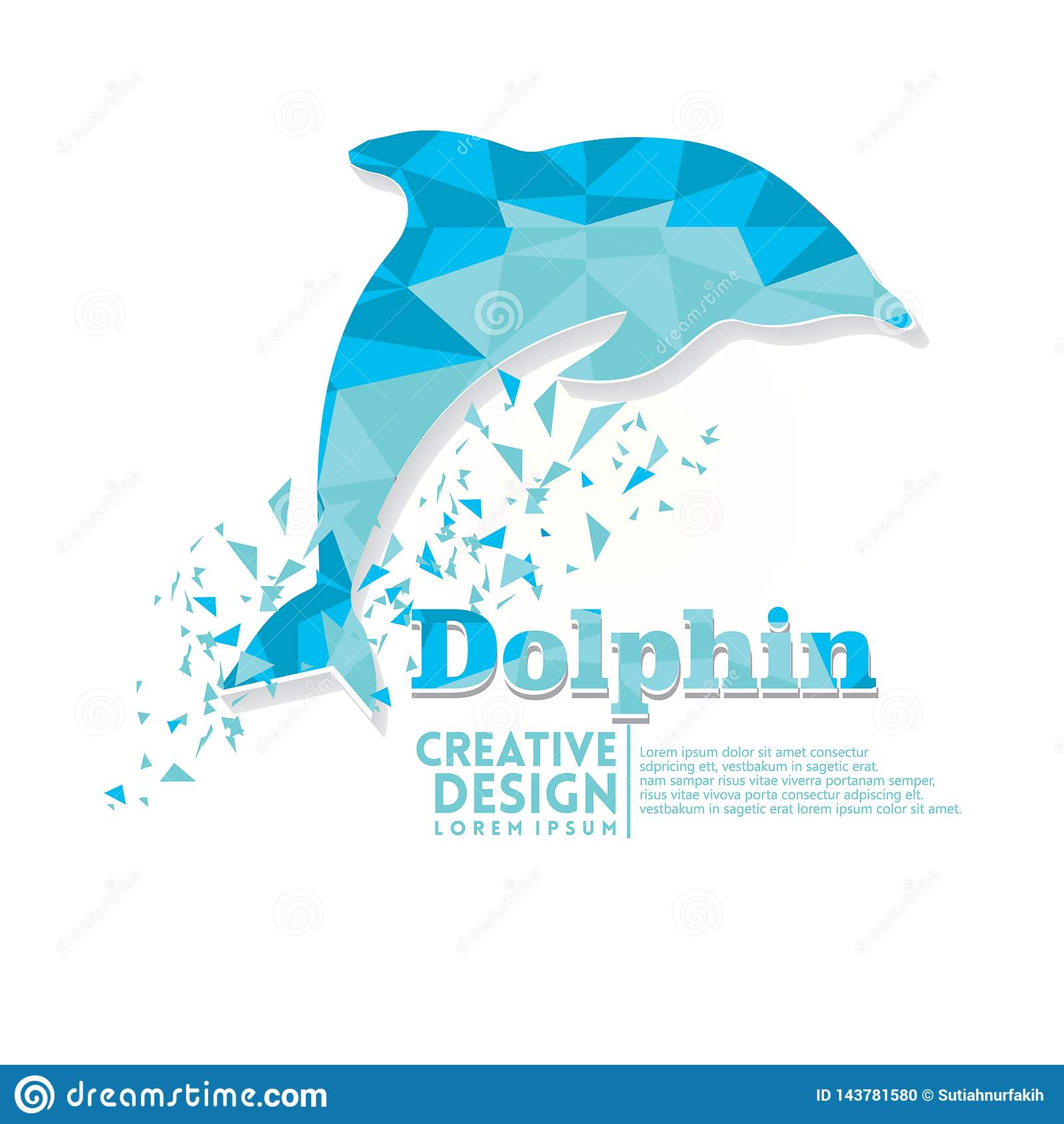 Stil för pappers- hantverk för delfin geometrisk