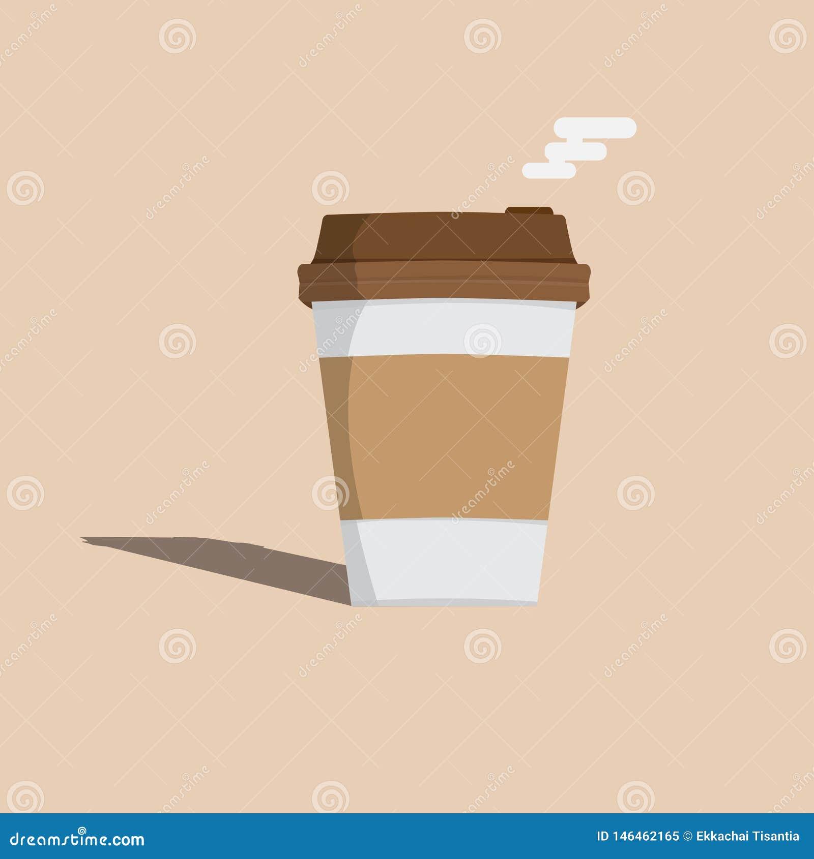 Stil för tecknad film för symbol för kaffekopp vektor illustration
