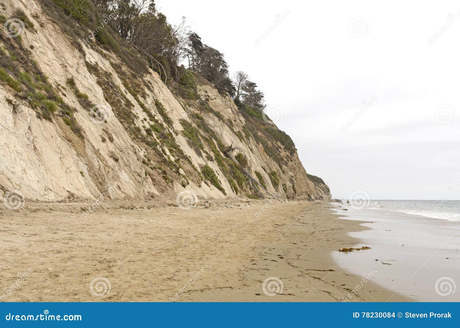 Stil Strand op een Bewolkte Dag