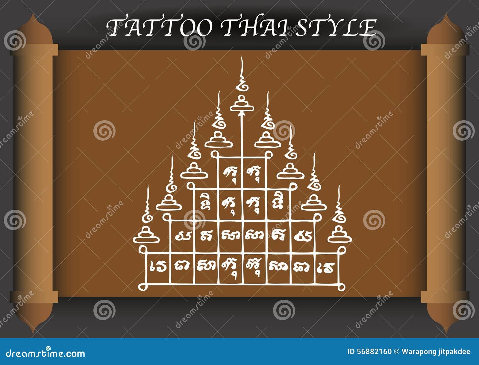 Stile antico del tatuaggio tailandese