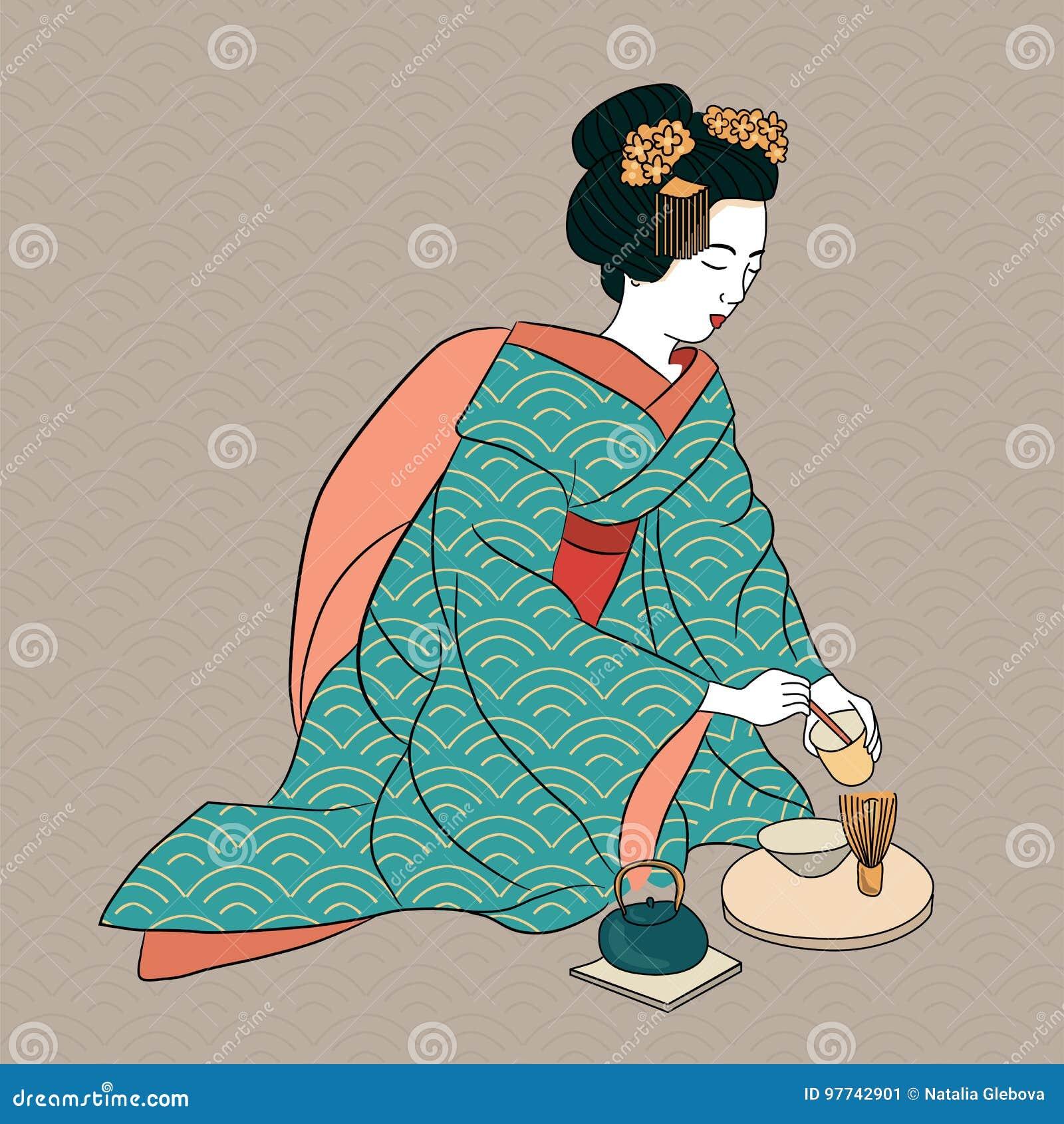 Favoloso Stile Antico Della Donna Giapponese Classica Di Japan Della Geisha IV29
