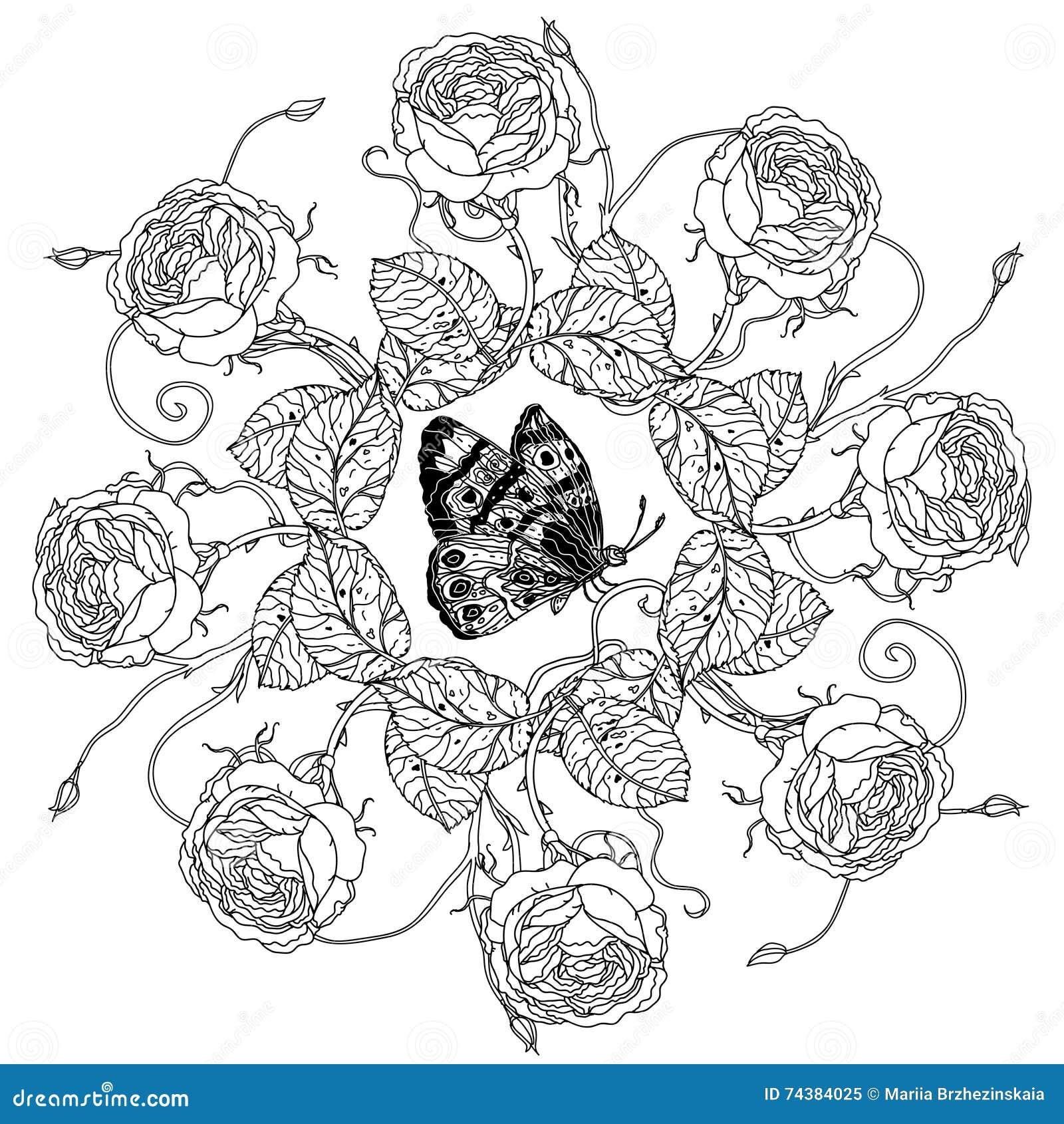 Stile Antistress Del Libro Da Colorare Di Natura Morta Illustrazione Vettoriale Illustrazione Di Bellezza Indigeno 74384025