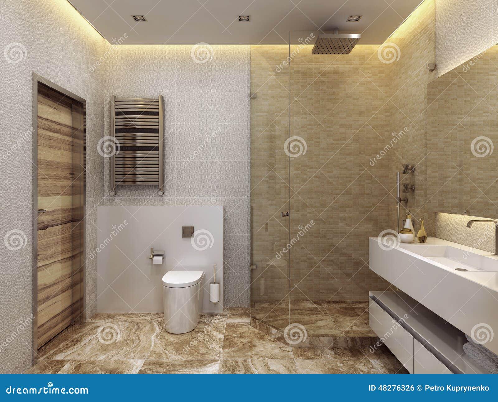 Stile contemporaneo del bagno illustrazione di stock illustrazione di bidet casa 48276326 - Bagno contemporaneo ...
