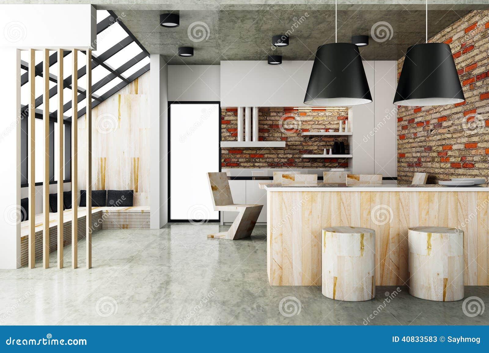 Stile Contemporaneo Dell'interno Della Sala Da Pranzo Illustrazione Di  #B64114 1300 957 Sala Da Pranzo Arte Contemporanea