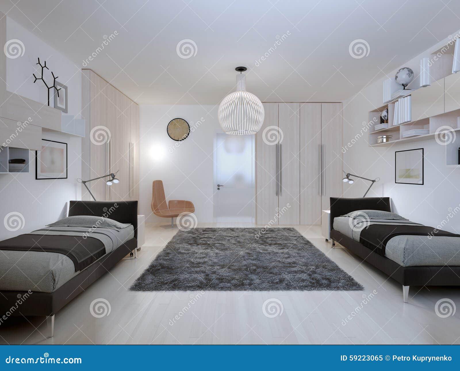 Stile contemporaneo della camera da letto degli for Design della camera degli ospiti