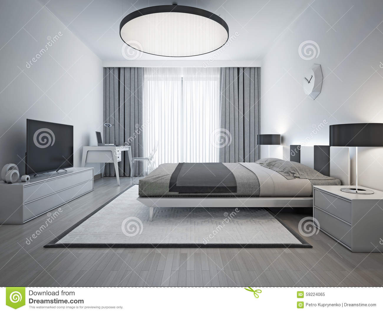 stile contemporaneo della camera da letto elegante. Black Bedroom Furniture Sets. Home Design Ideas
