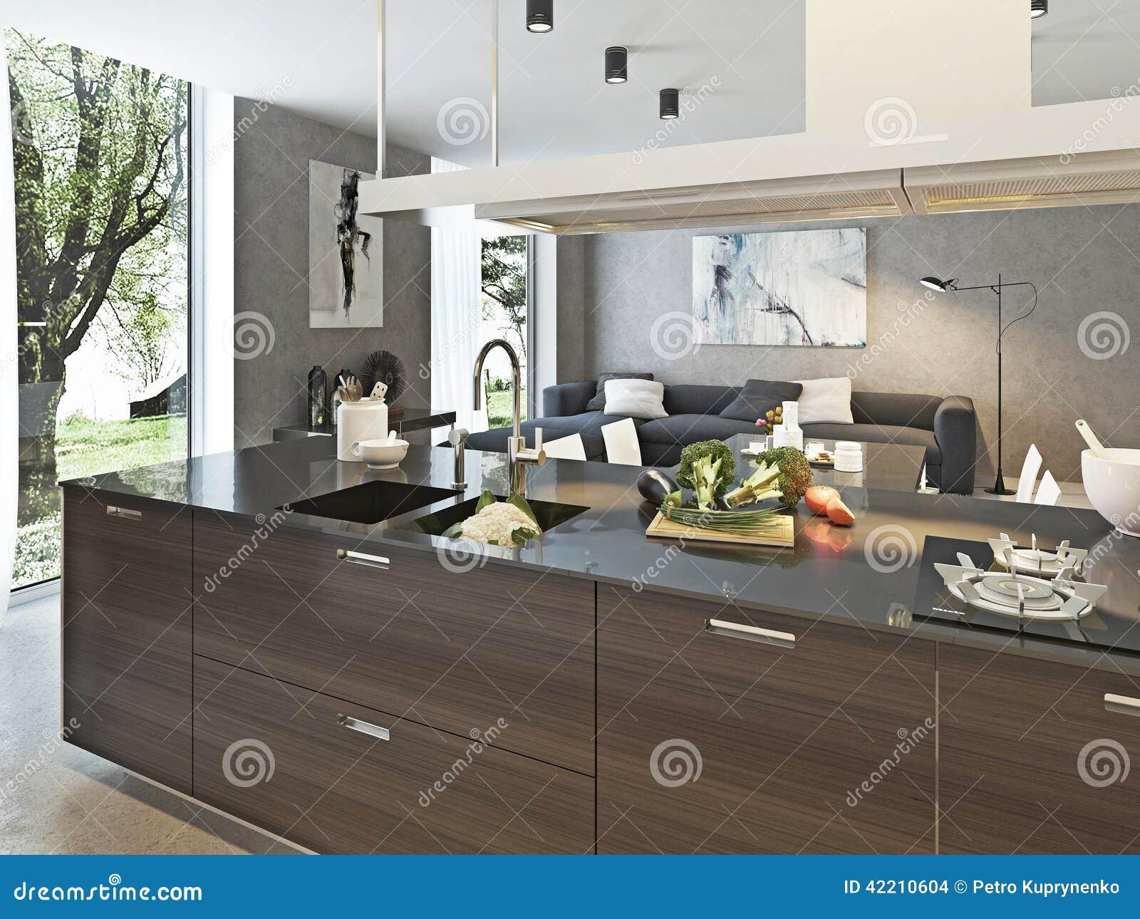 Stile contemporaneo della cucina illustrazione di stock for Contemporaneo costruito ins