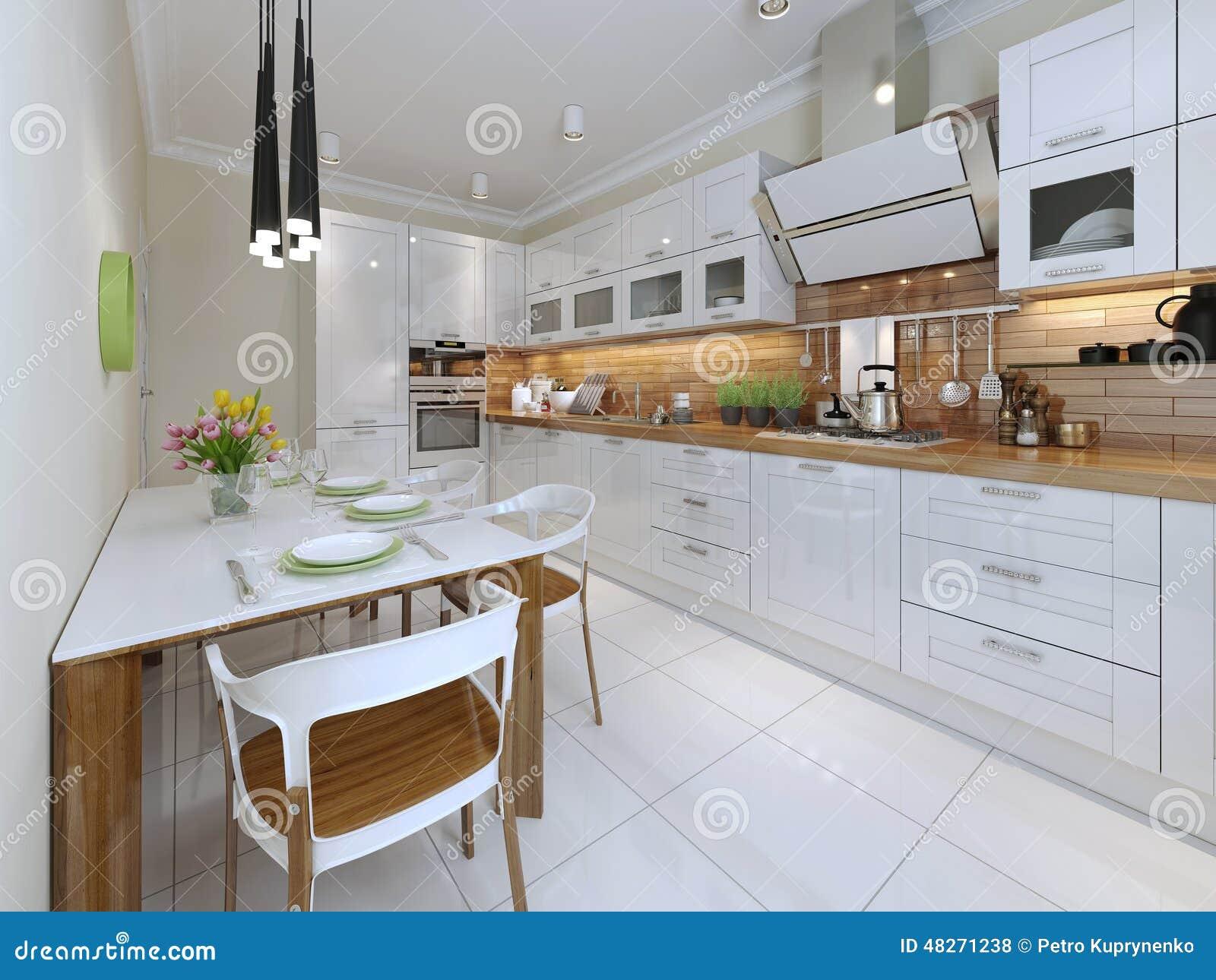 Stile Contemporaneo Della Cucina Fotografia Stock - Immagine ...