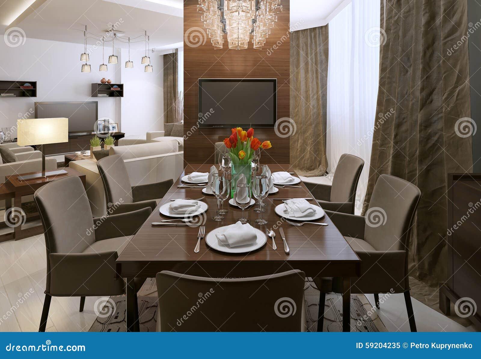 Sala Da Pranzo Contemporanea : Stile contemporaneo della sala da pranzo illustrazione di stock