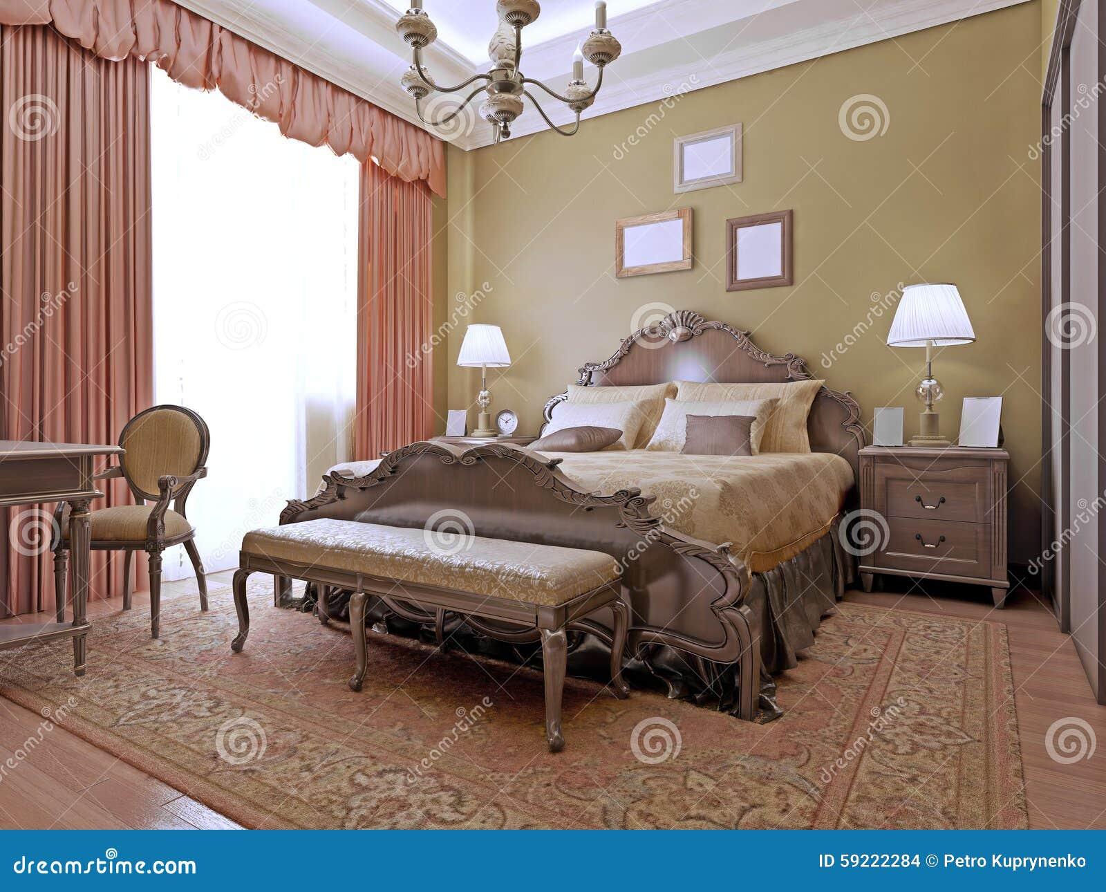 Stile costoso di art deco della camera da letto fotografia stock immagine di arte portelli - I segreti della camera da letto ...