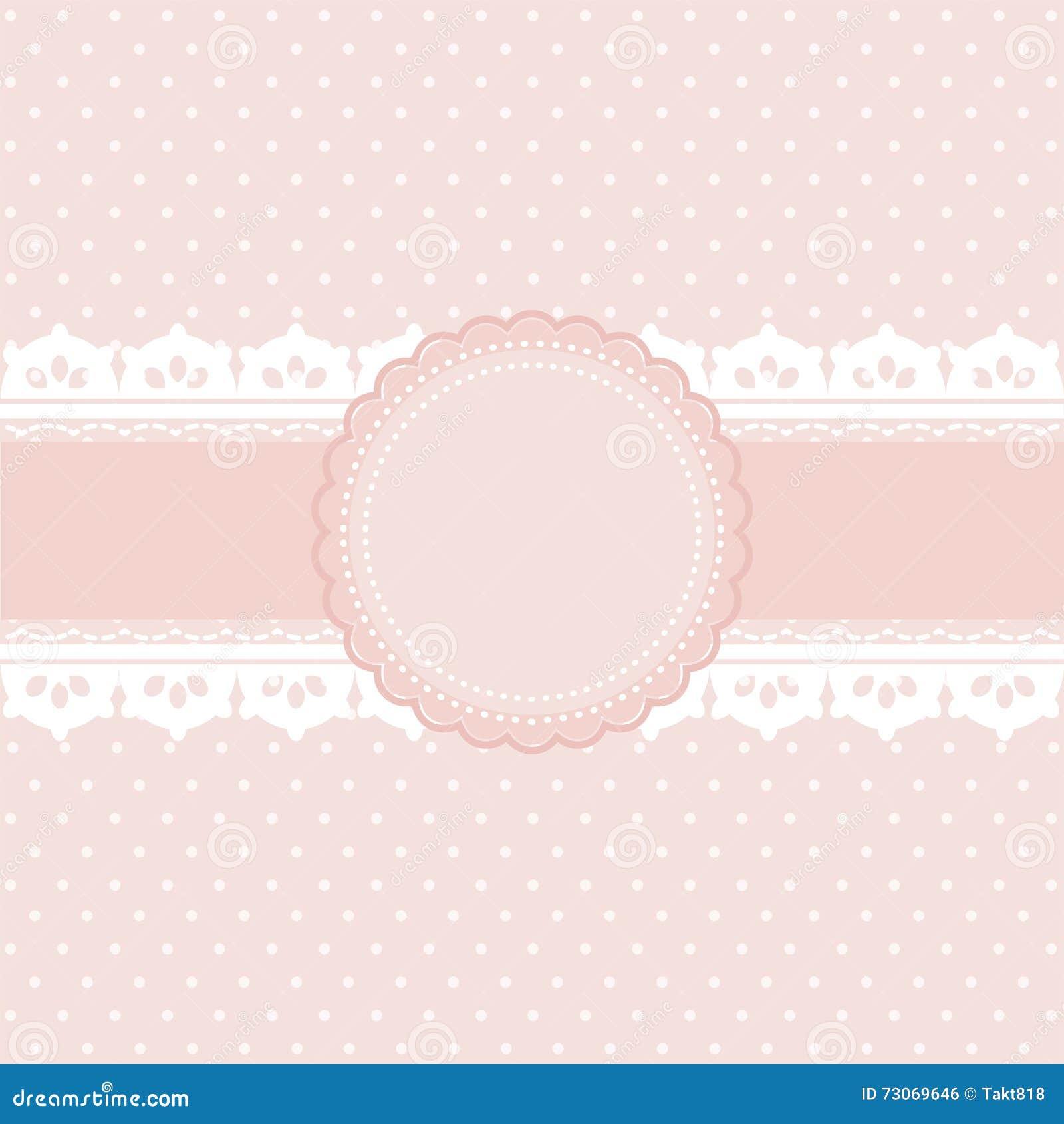 Stile Dannata Del Fondo Rosa E Bianco Del Pois Illustrazione