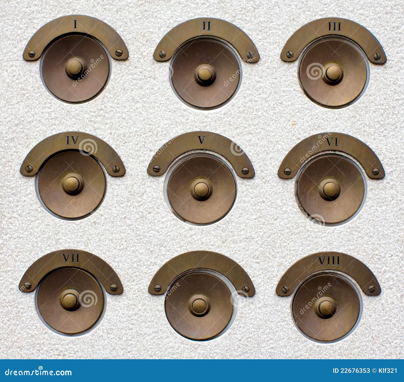 Stile d 39 ottone dei campanelli per porte vecchio immagine for Piccoli piani di casa in metallo