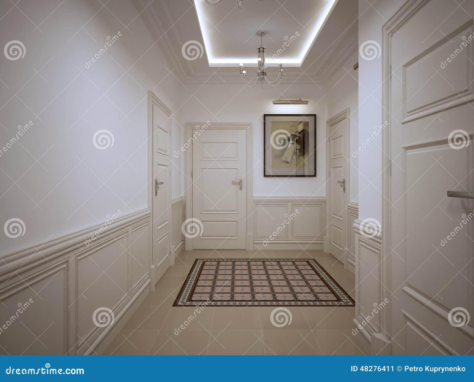 Stile Del Classico Del Corridoio Di Corridoio Illustrazione Di Stock
