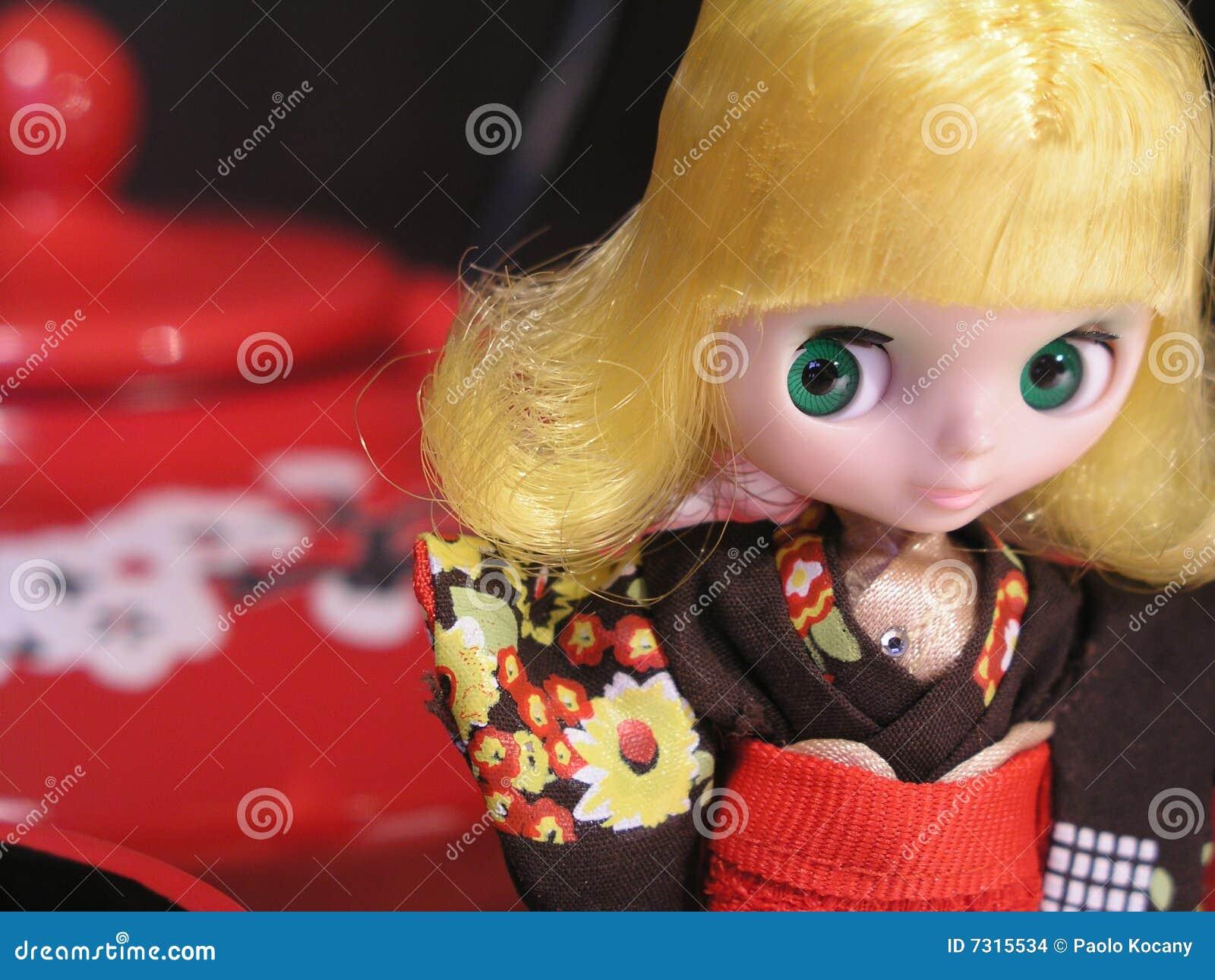 Stile del Giappone della bambola di Blythe