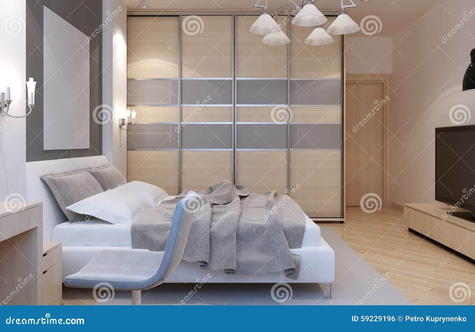 Camere Da Letto Art Deco : Stile di art deco della camera da letto principale illustrazione di