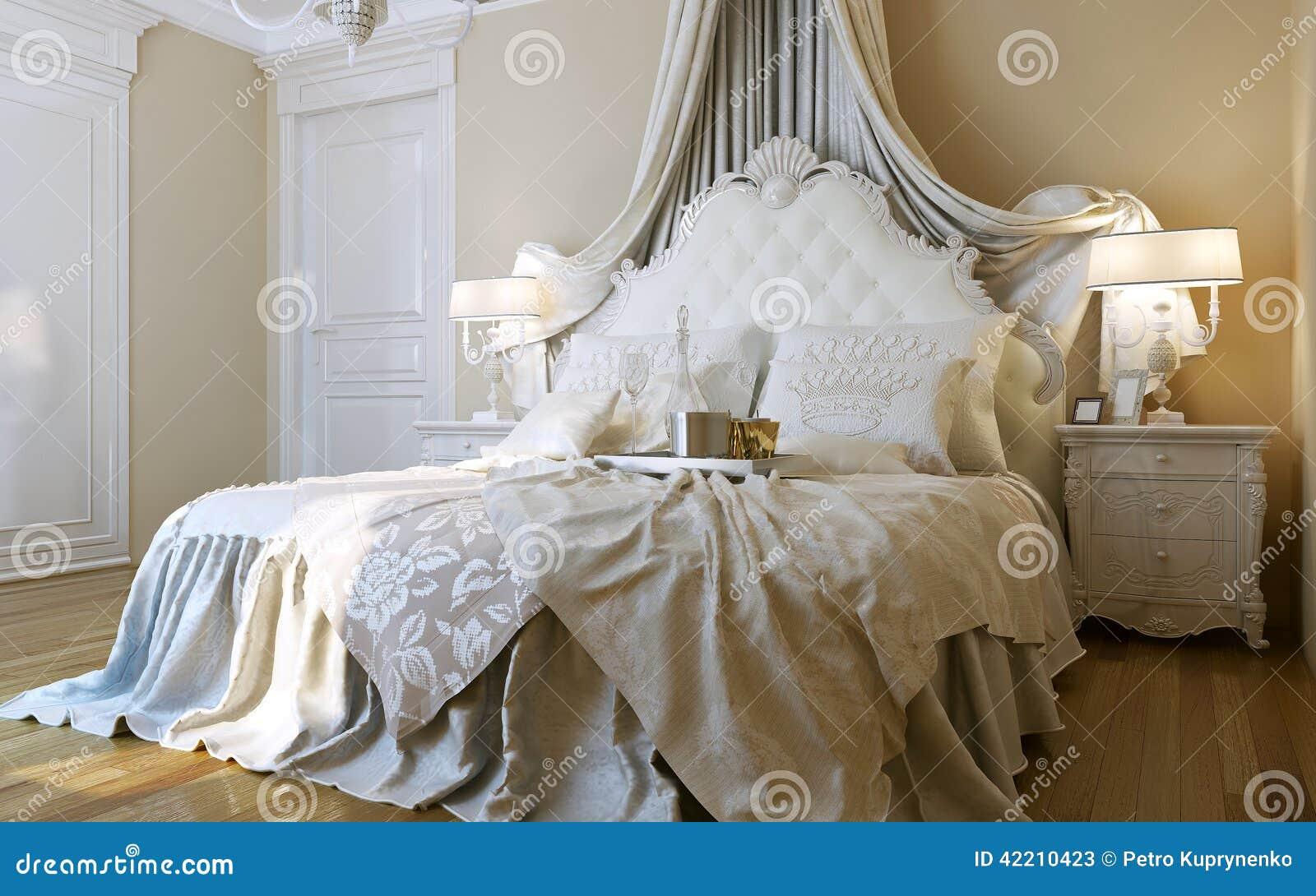 Stile Di Barocco Delle Camere Da Letto Illustrazione di Stock - Immagine: 42210423