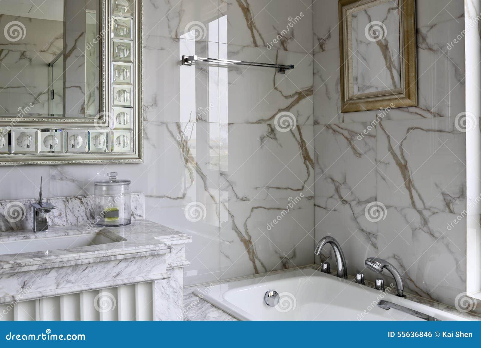 Bagno Stile Naturale : Stile di colore leggero del modello decorativo naturale della casa