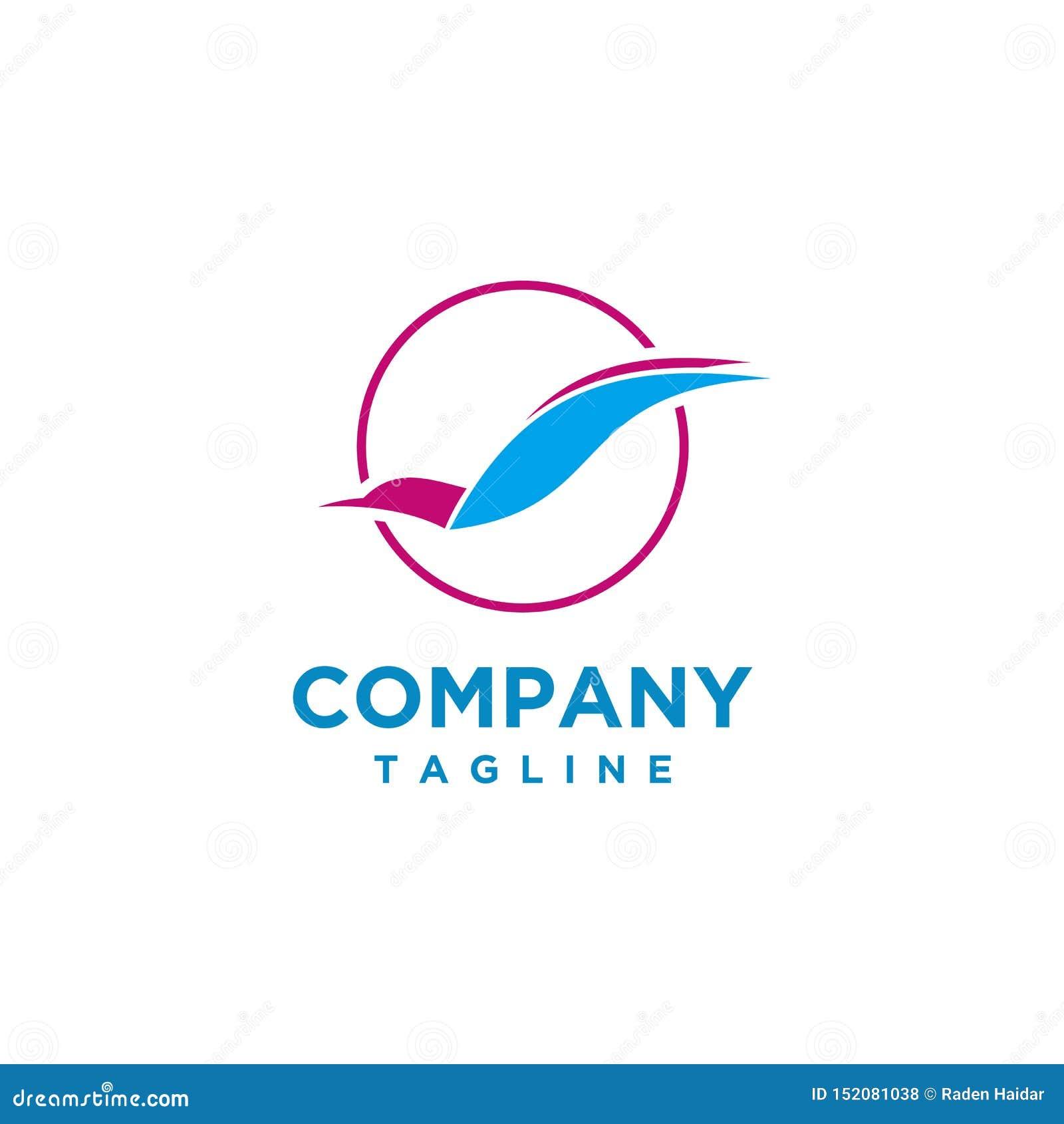 Stile di lusso di progettazione di logo dell uccello