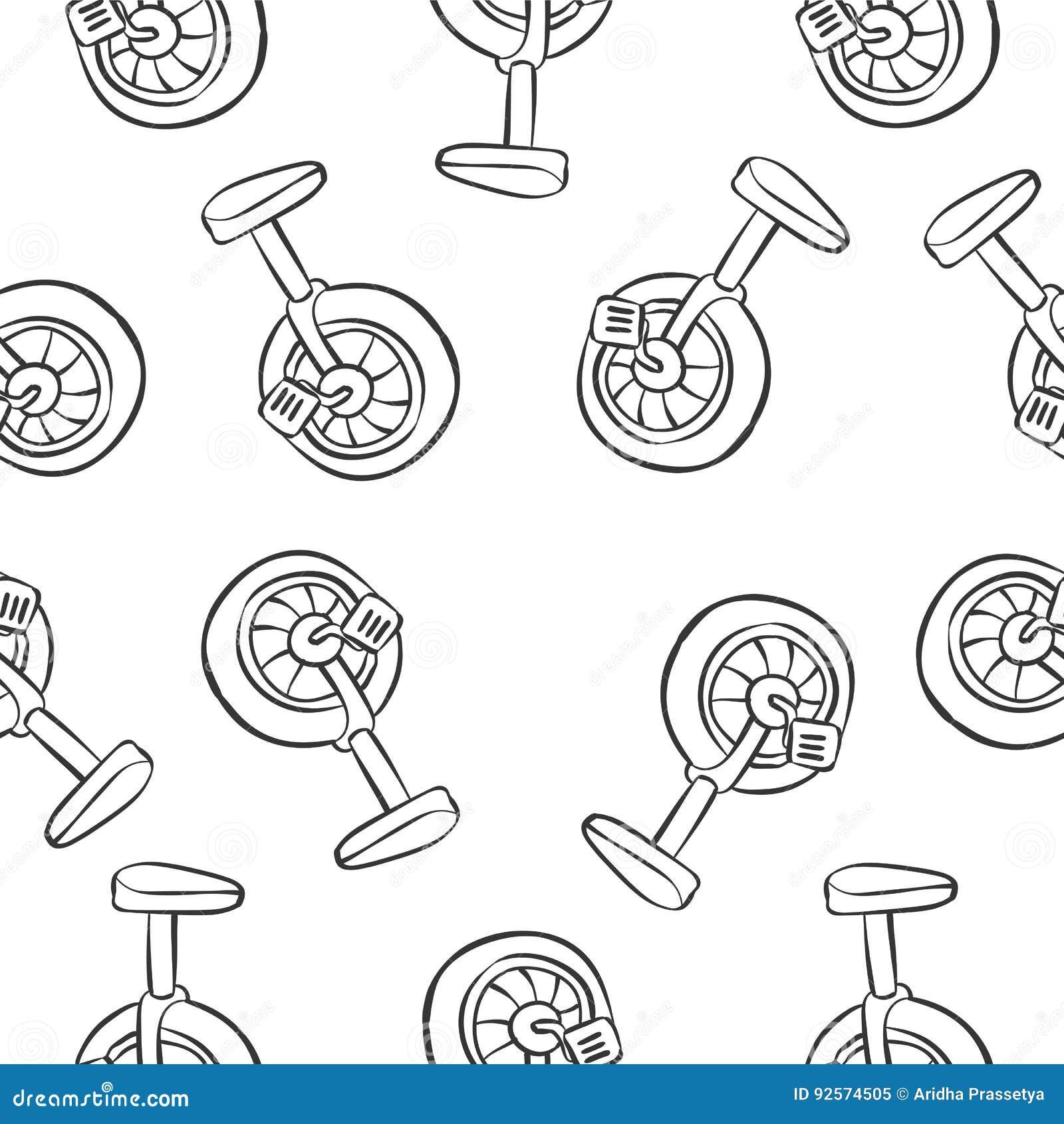 Stile di scarabocchio di tiraggio della mano della bici