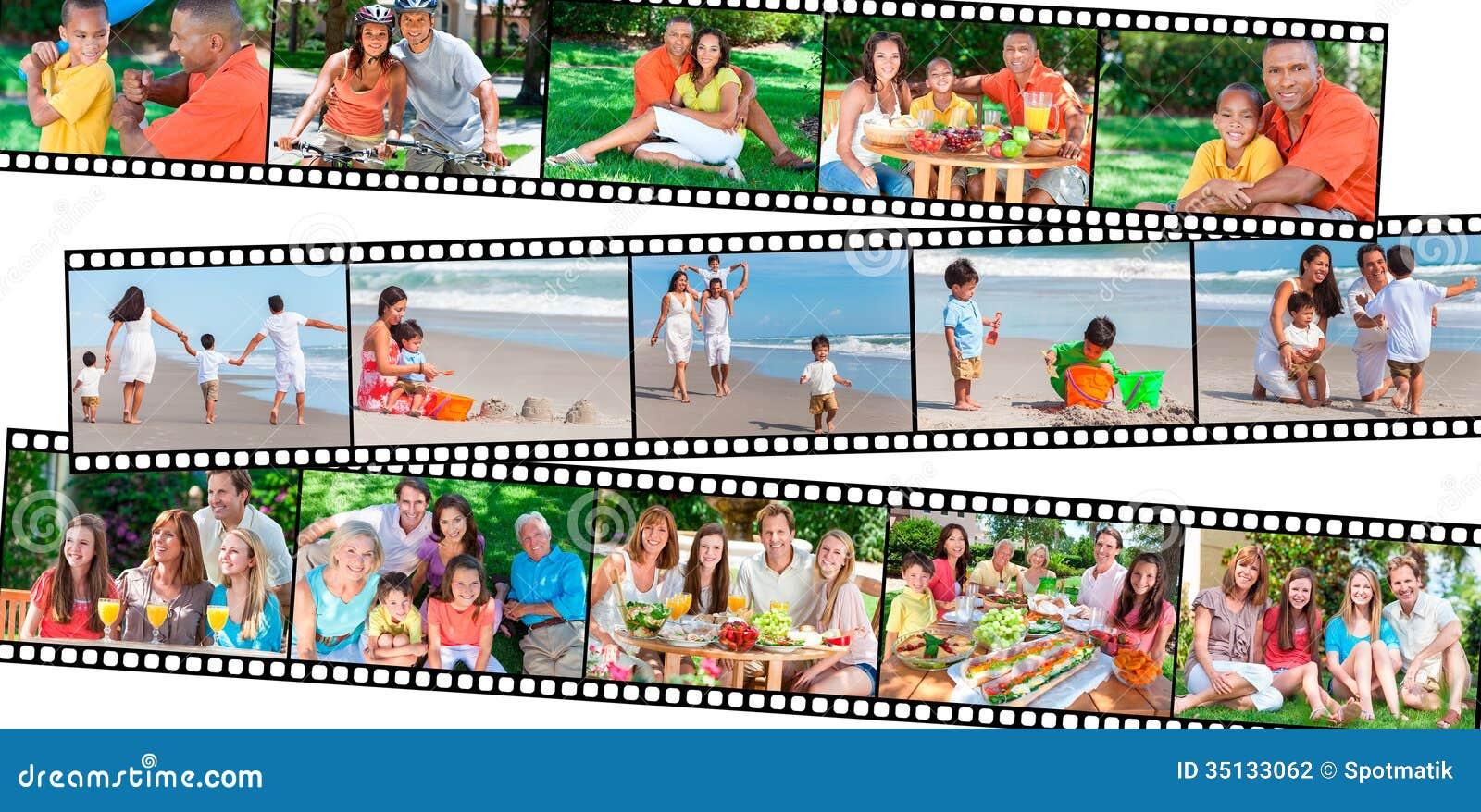 Stile di vita sano felice di cibo dei genitori & dei bambini della famiglia