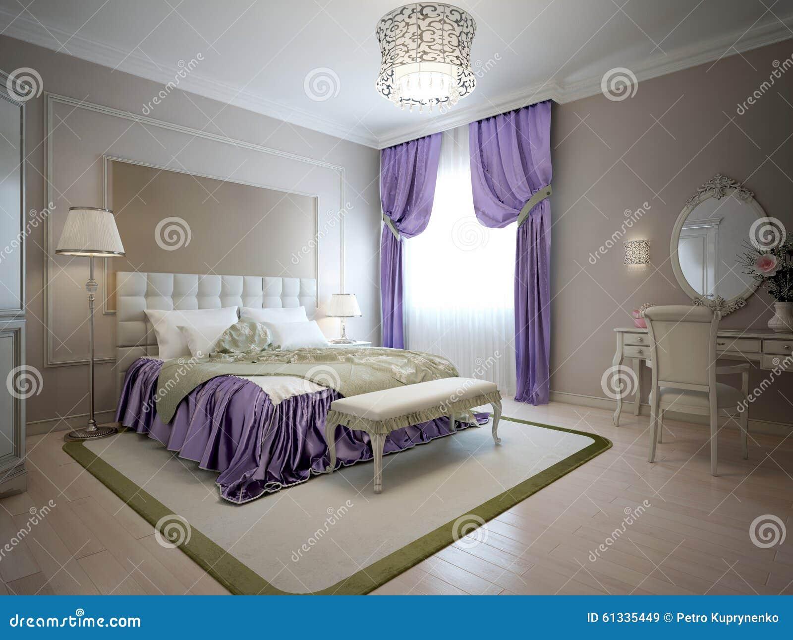 Stile elegante del classico della camera da letto illustrazione di stock illustrazione di luce - I segreti della camera da letto ...