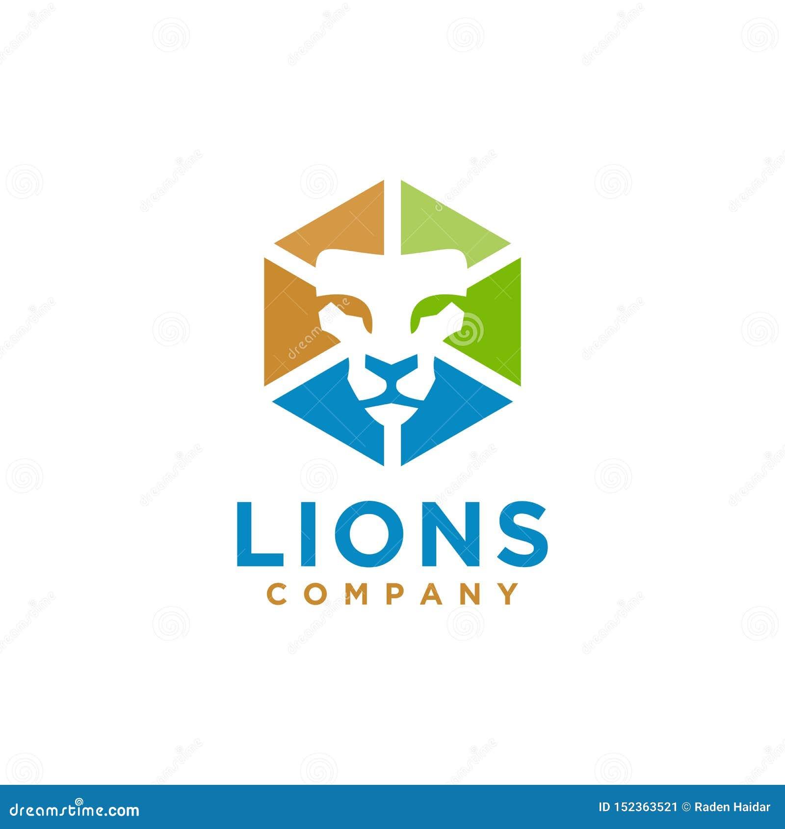 Stile elegante di progettazione di Lion Logo