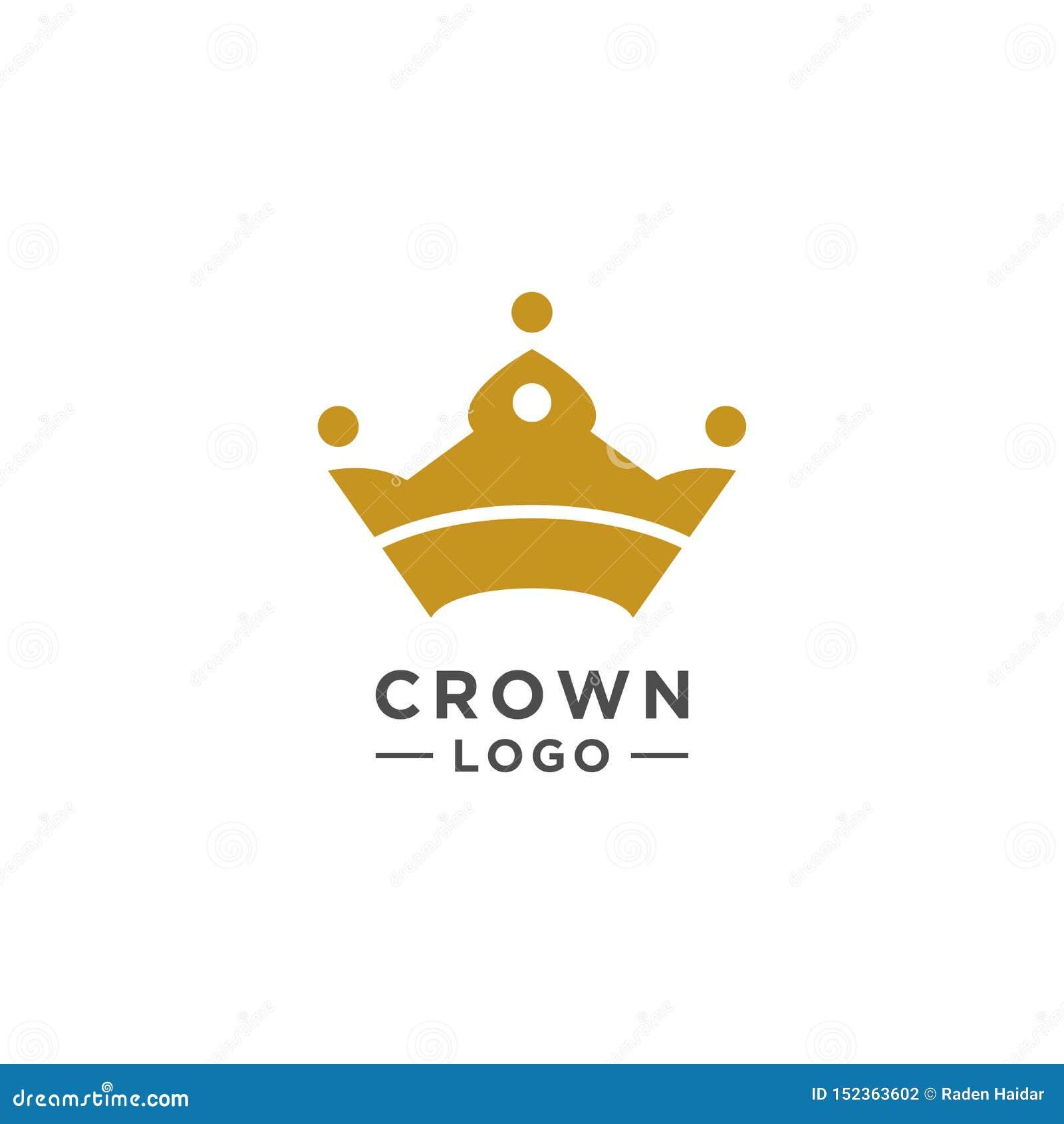 Stile elegante di vettore di progettazione di logo della corona