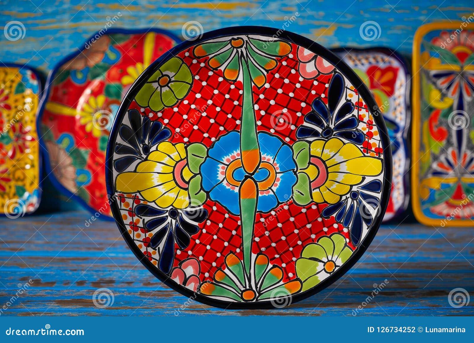 Stile messicano di Talavera delle terraglie del Messico