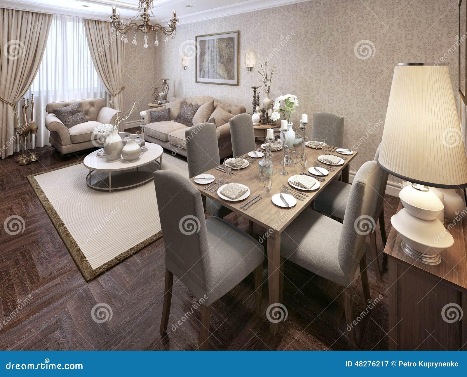 Stile moderno della sala da pranzo illustrazione di stock illustrazione di presidenze vetri - Sala pranzo ...