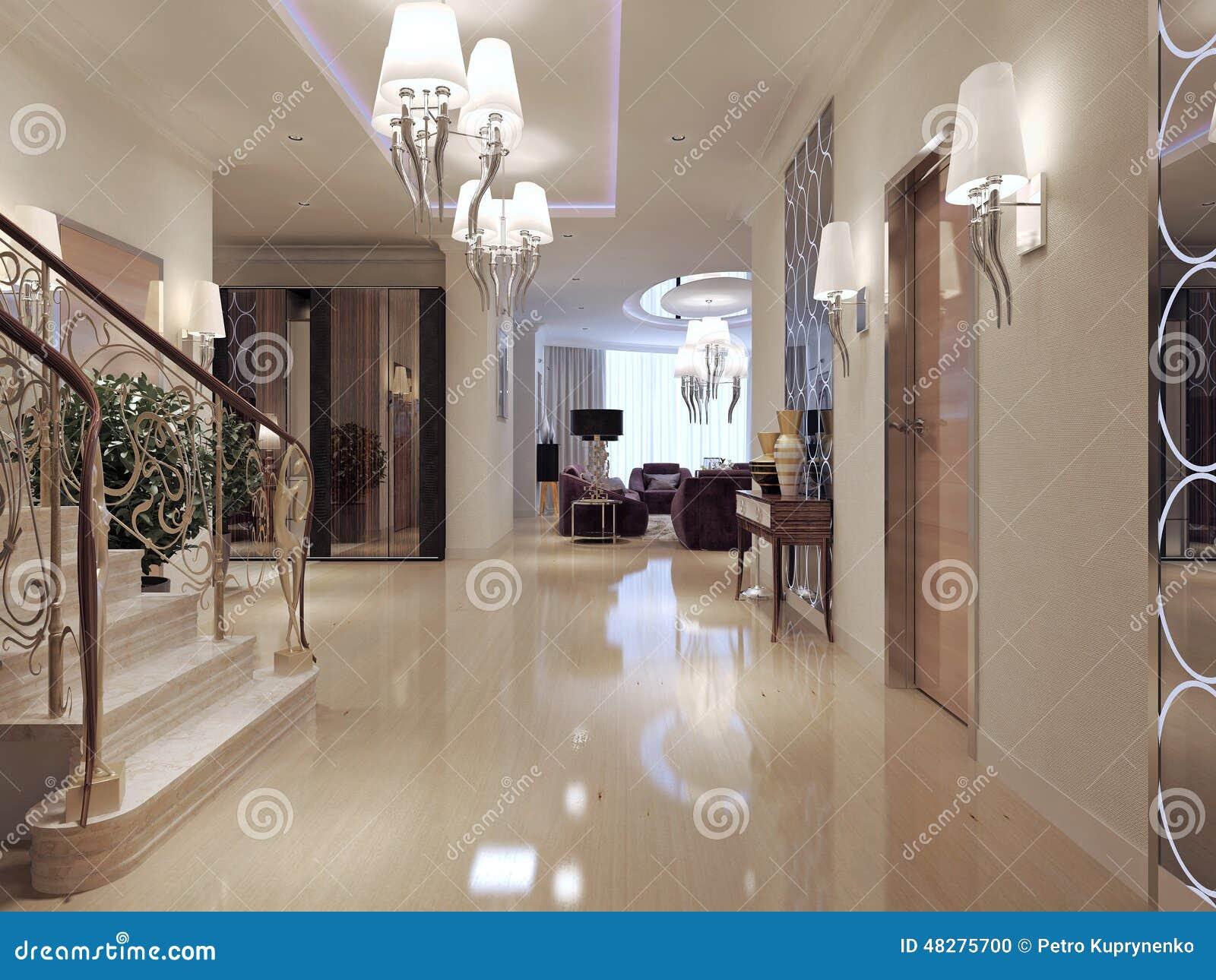 Stile neoclassico di corridoio illustrazione di stock - Casa stile neoclassico ...