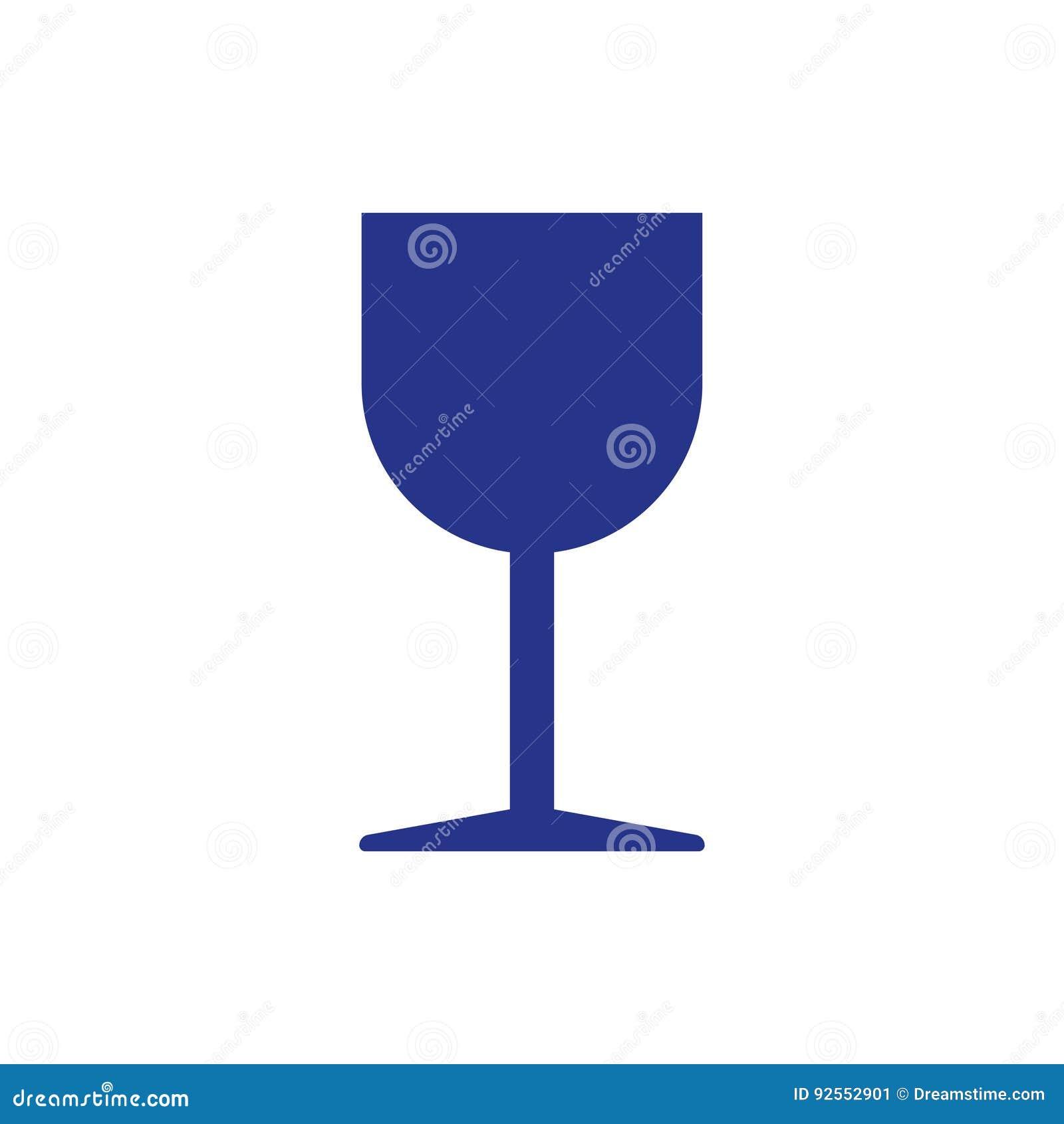 Stile piano di progettazione dell illustrazione di vettore delle azione dell icona del bicchiere di vino