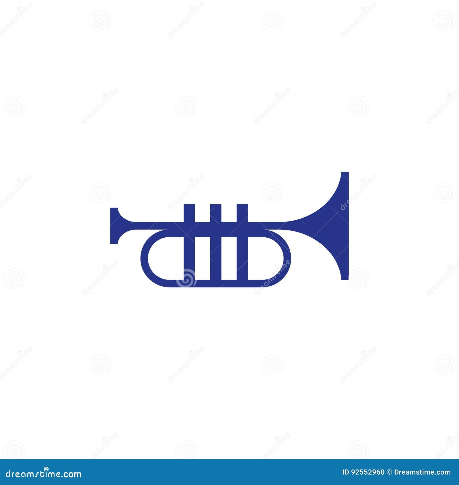 Stile piano di progettazione dell illustrazione di vettore delle azione dell icona della tromba