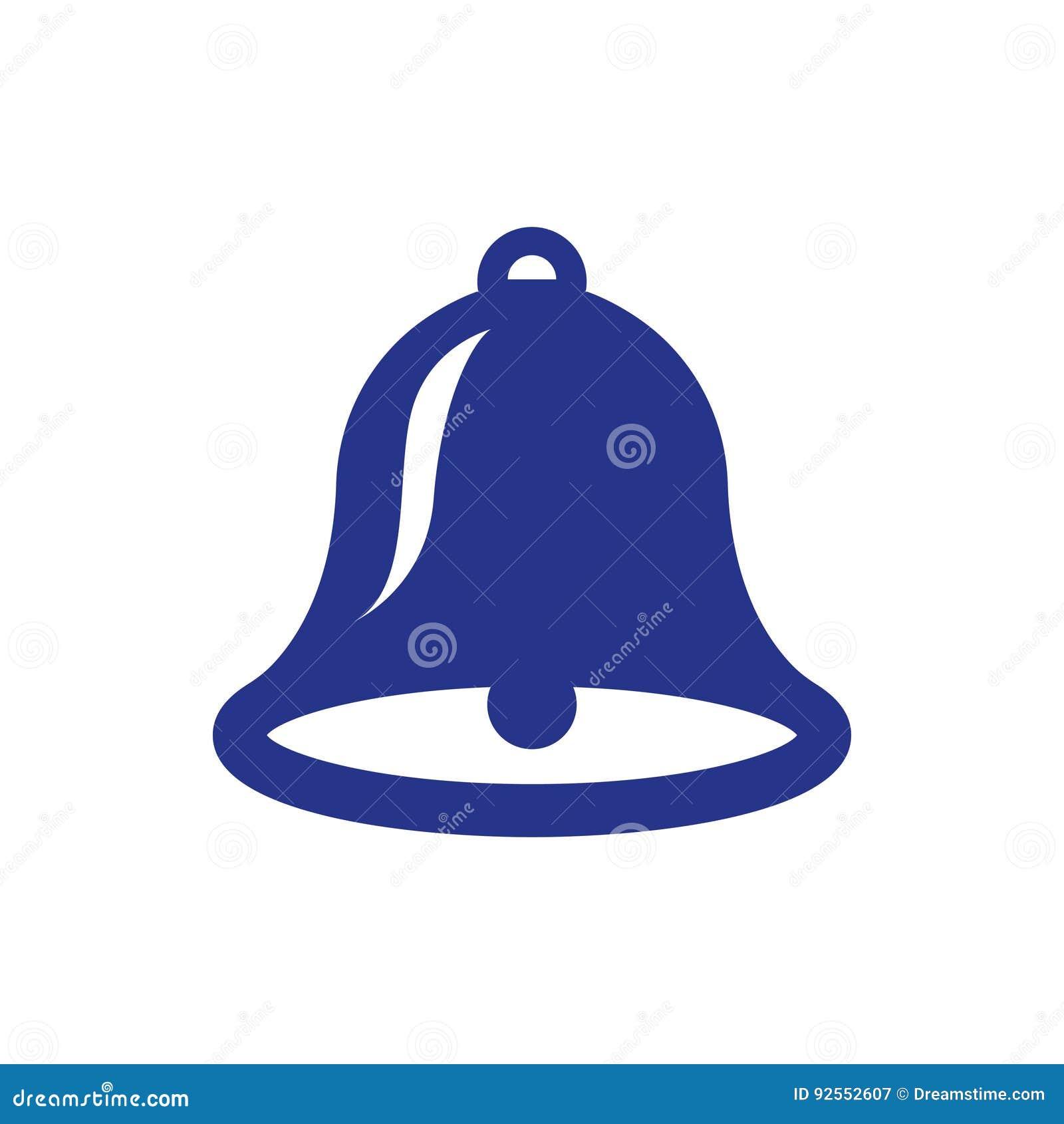 Stile piano di progettazione dell illustrazione di vettore delle azione dell icona di Bell