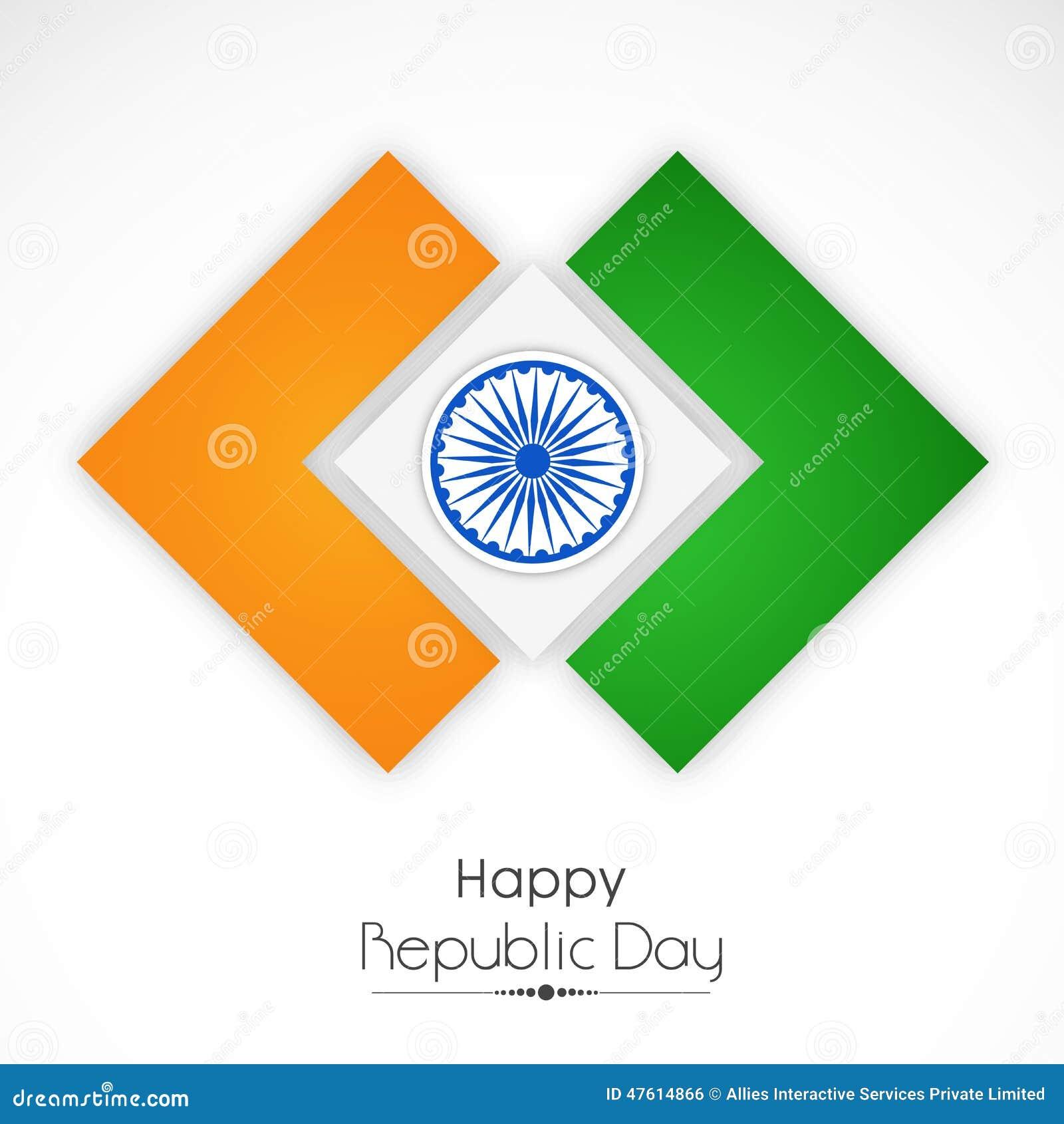 Stilfull nationsflagga för indisk republikdagberöm