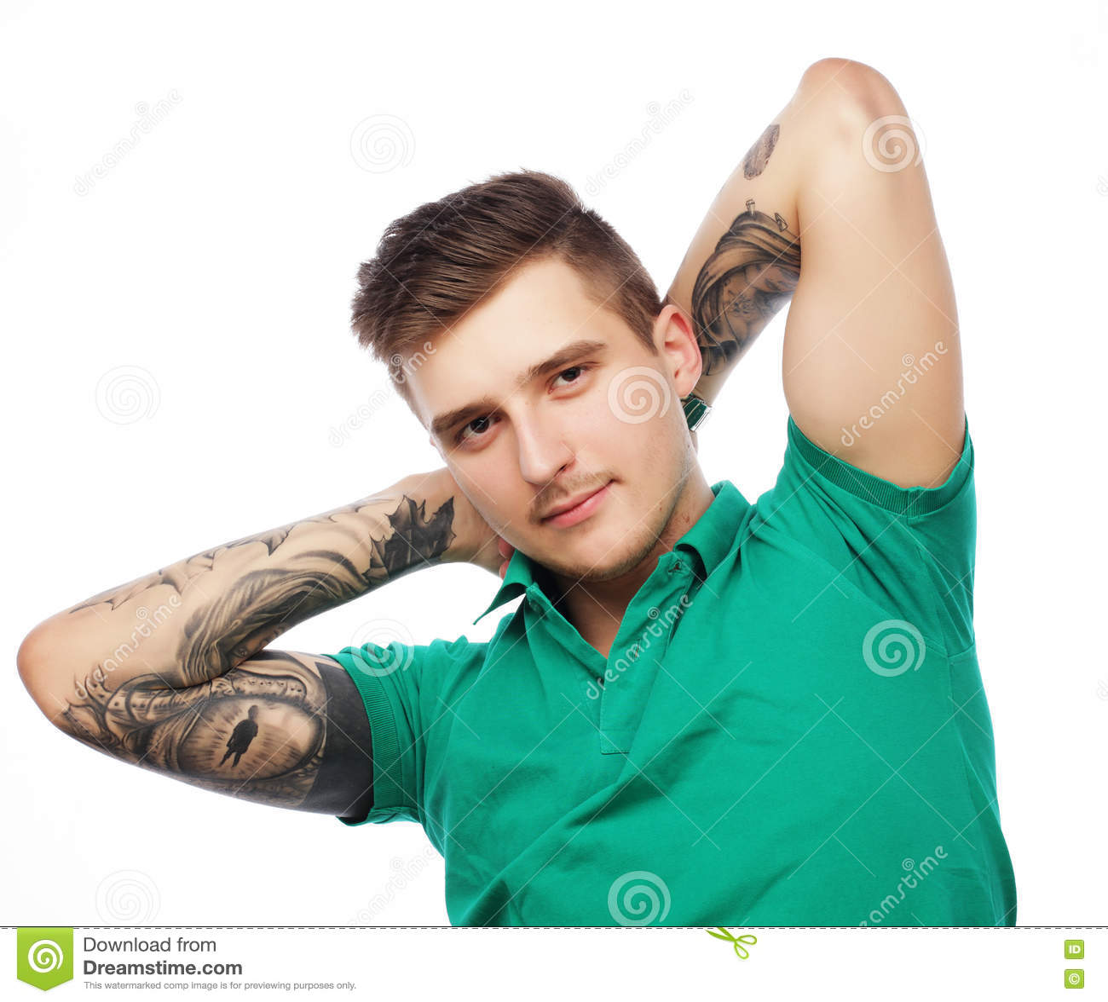 Stilig t-skjorta för manblankogräsplan
