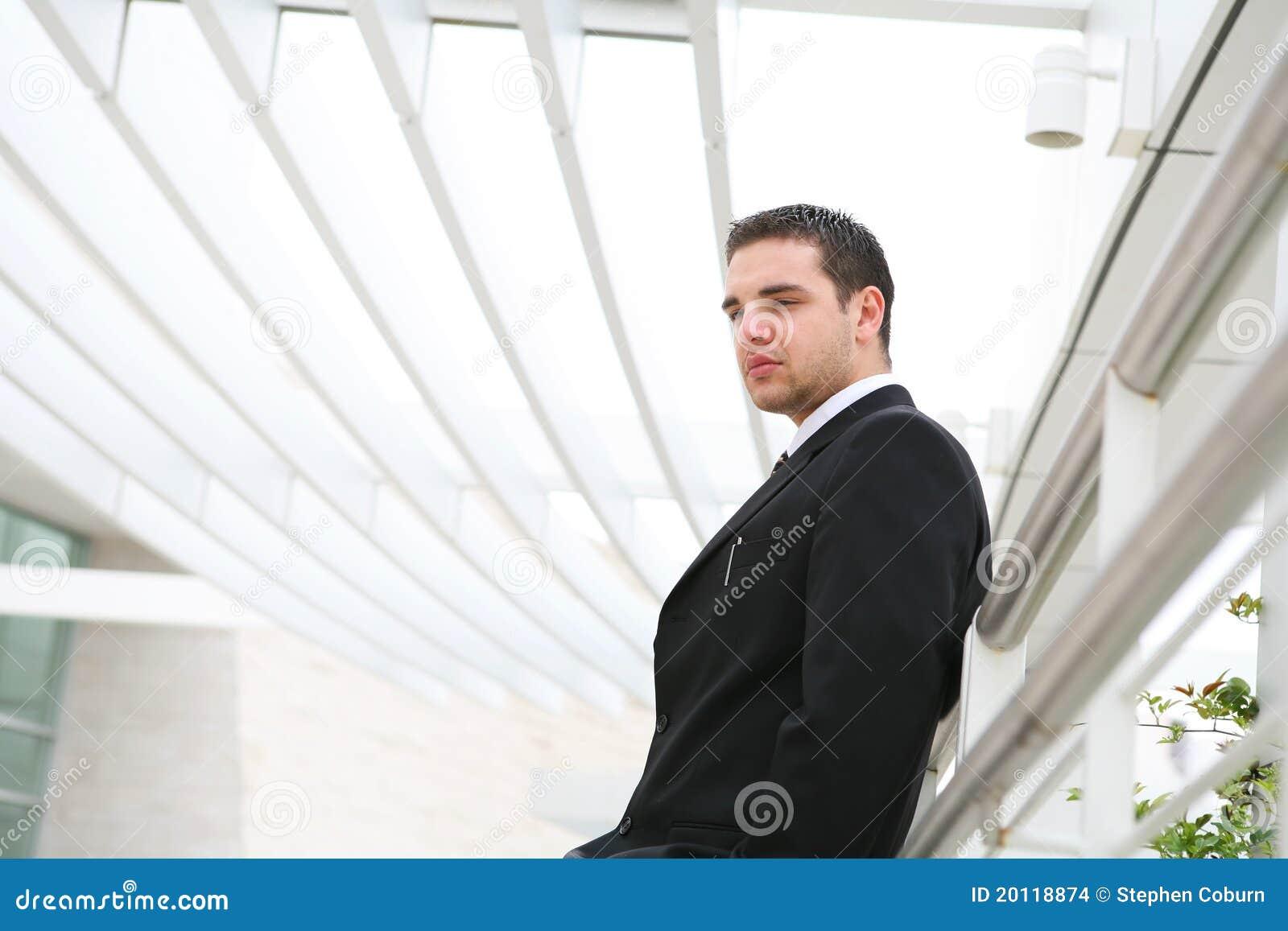 Stiligt mankontor för affär