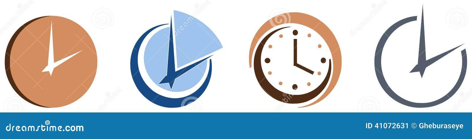Stiliserade klockor