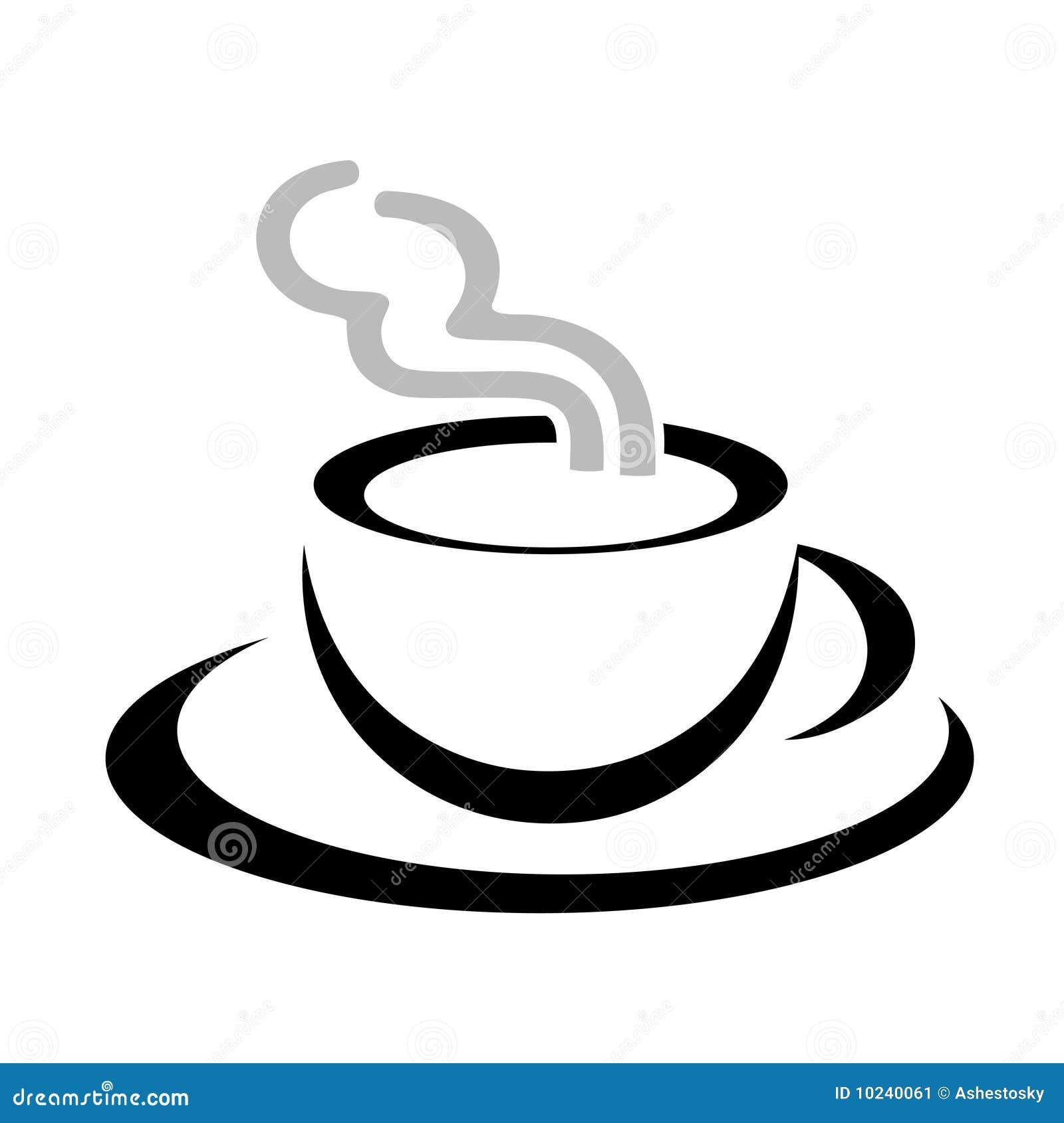 stilisiert zeichenvektor der kaffeetasse vektor abbildung bild 10240061. Black Bedroom Furniture Sets. Home Design Ideas