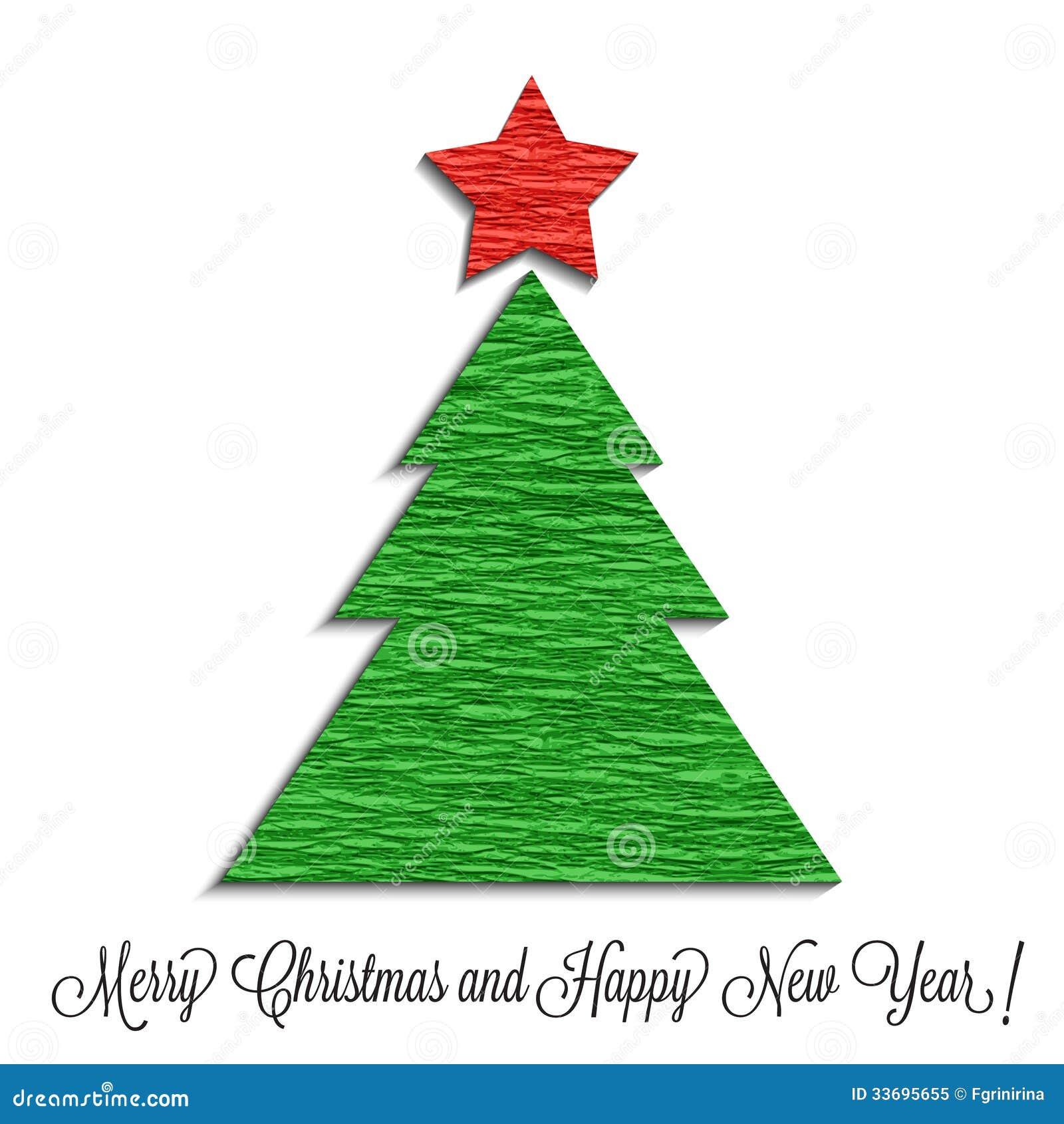 stilisierter weihnachtsbaum gemacht vom krepppapier. Black Bedroom Furniture Sets. Home Design Ideas