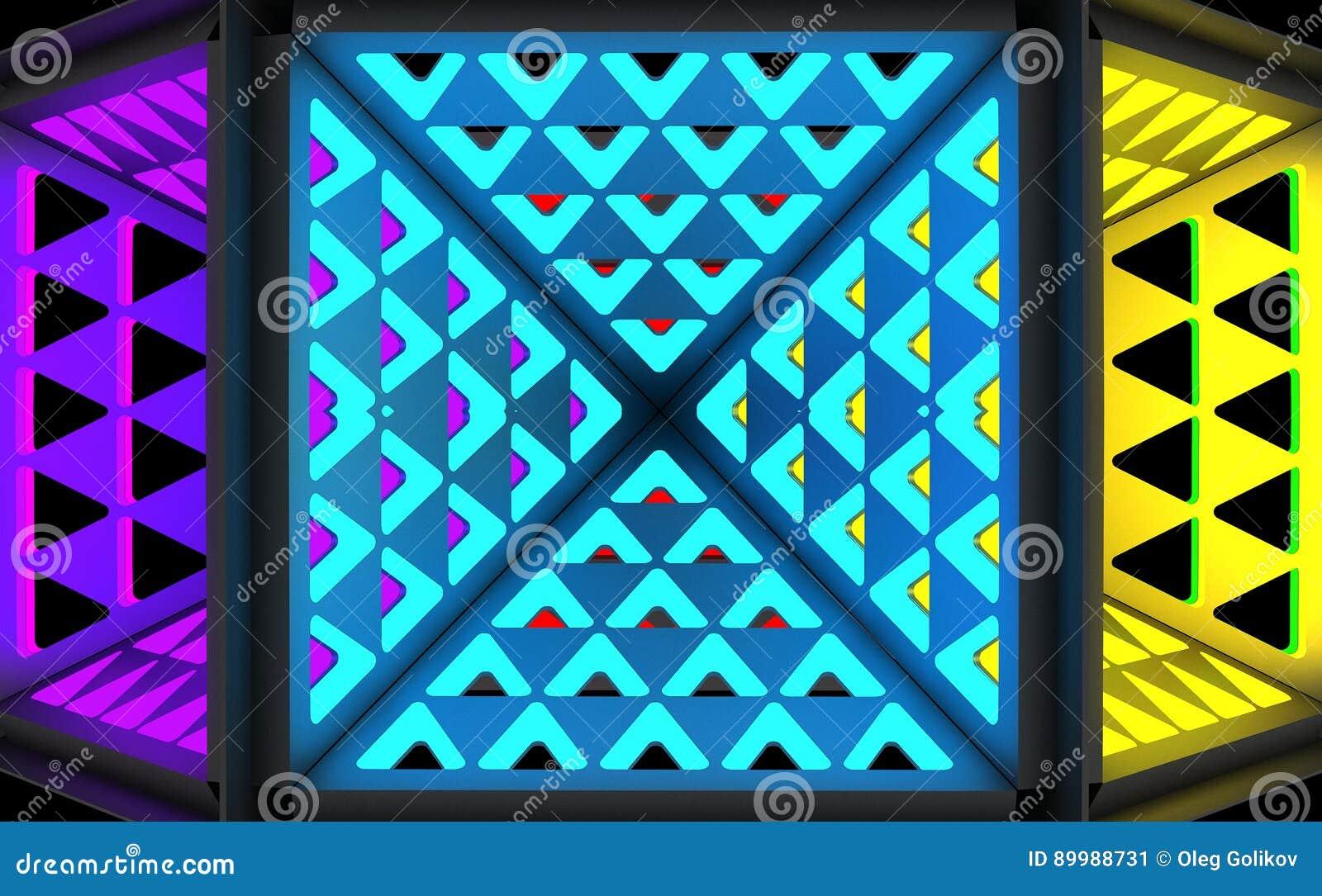 Stilistisk abstrakt ljus bakgrund med en olik geometrisk struktur illustration 3d