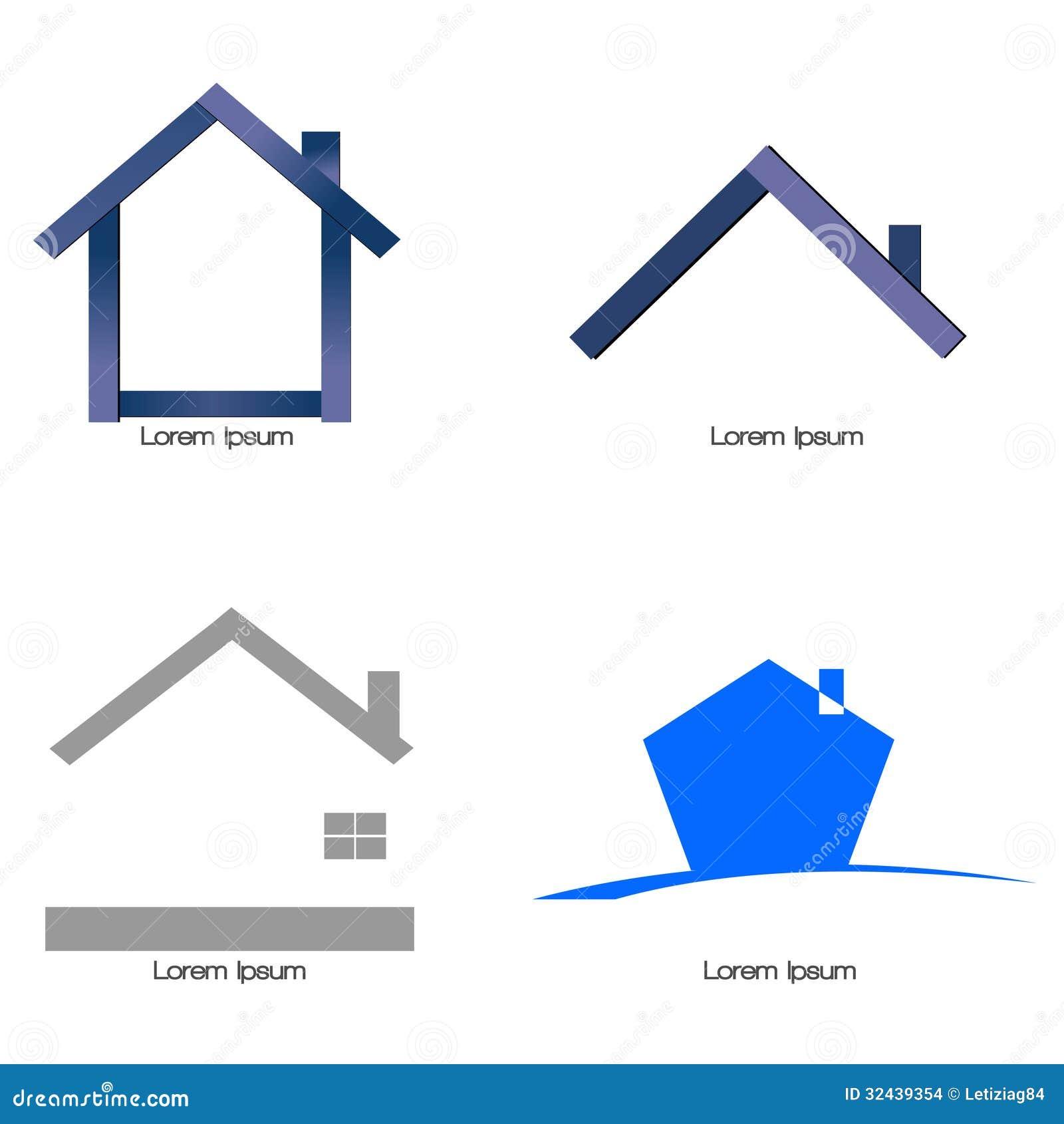 Stilizzato di casa illustrazione vettoriale illustrazione for Disegni di casa compatti