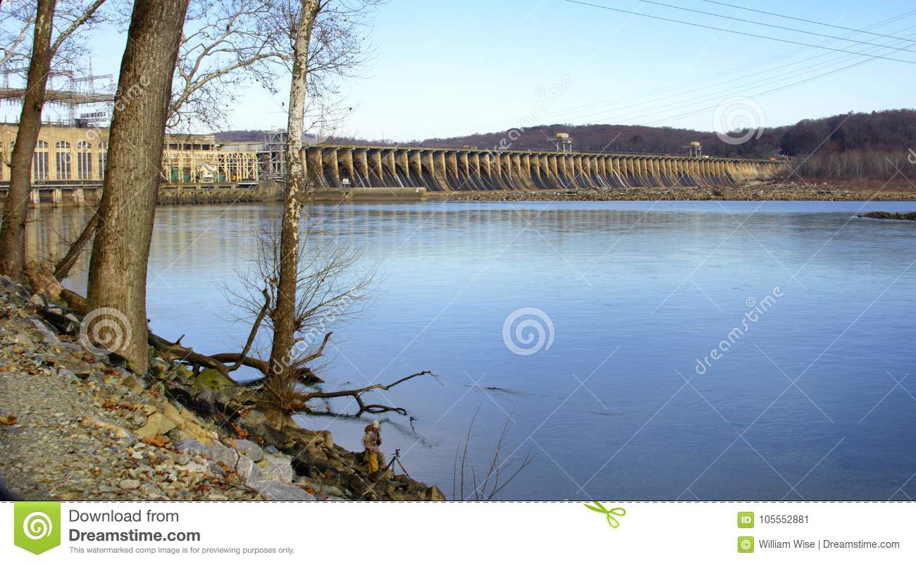 Conowingo Dam On The Susquehanna River, Maryland, USA Editorial